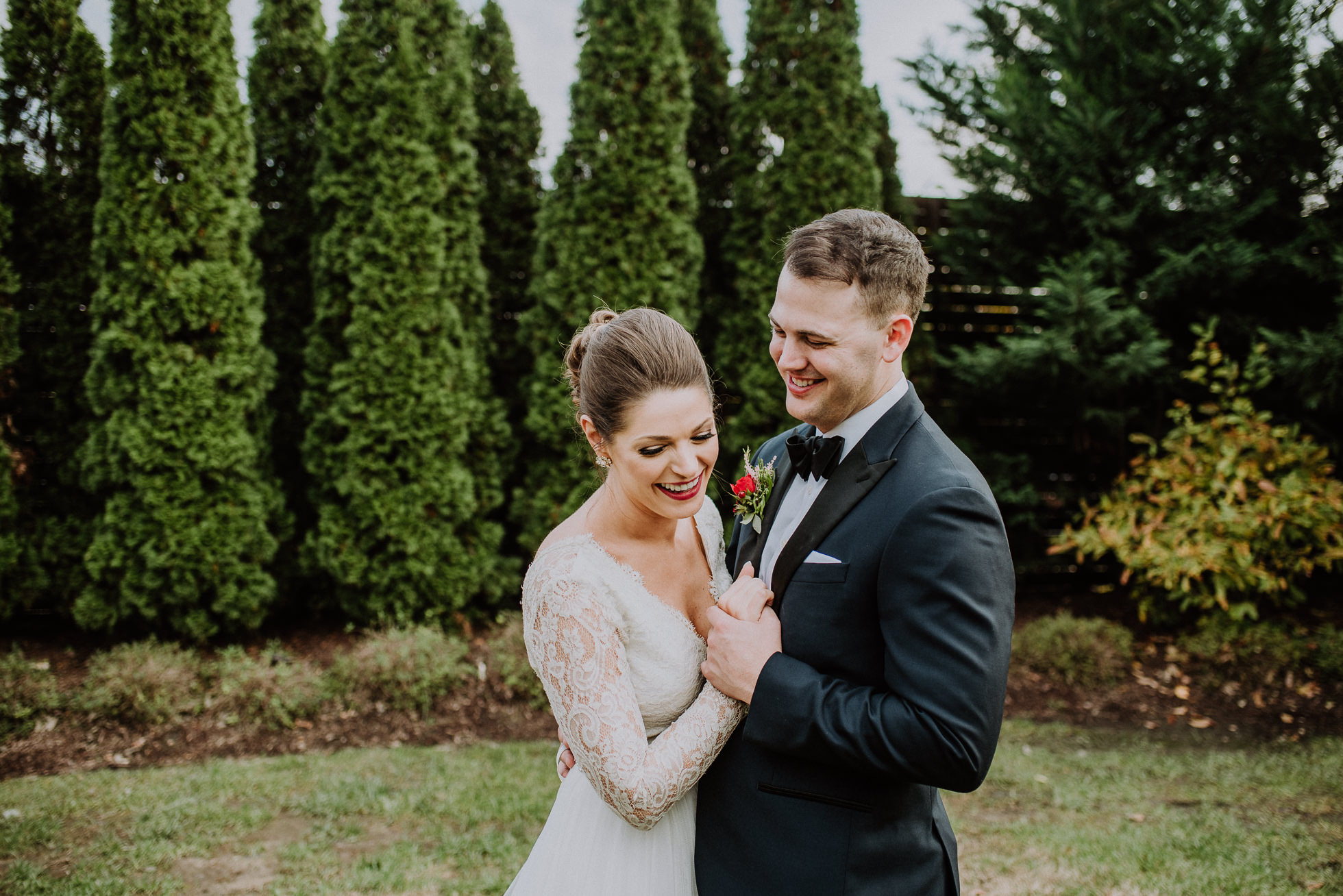 laughing bride and groom at the cordelle nashville