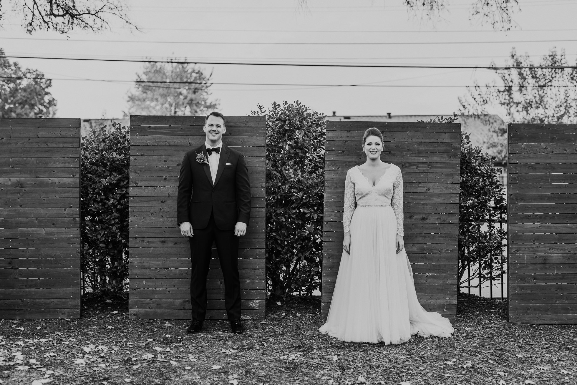 bride and groom outside of the cordelle nashville