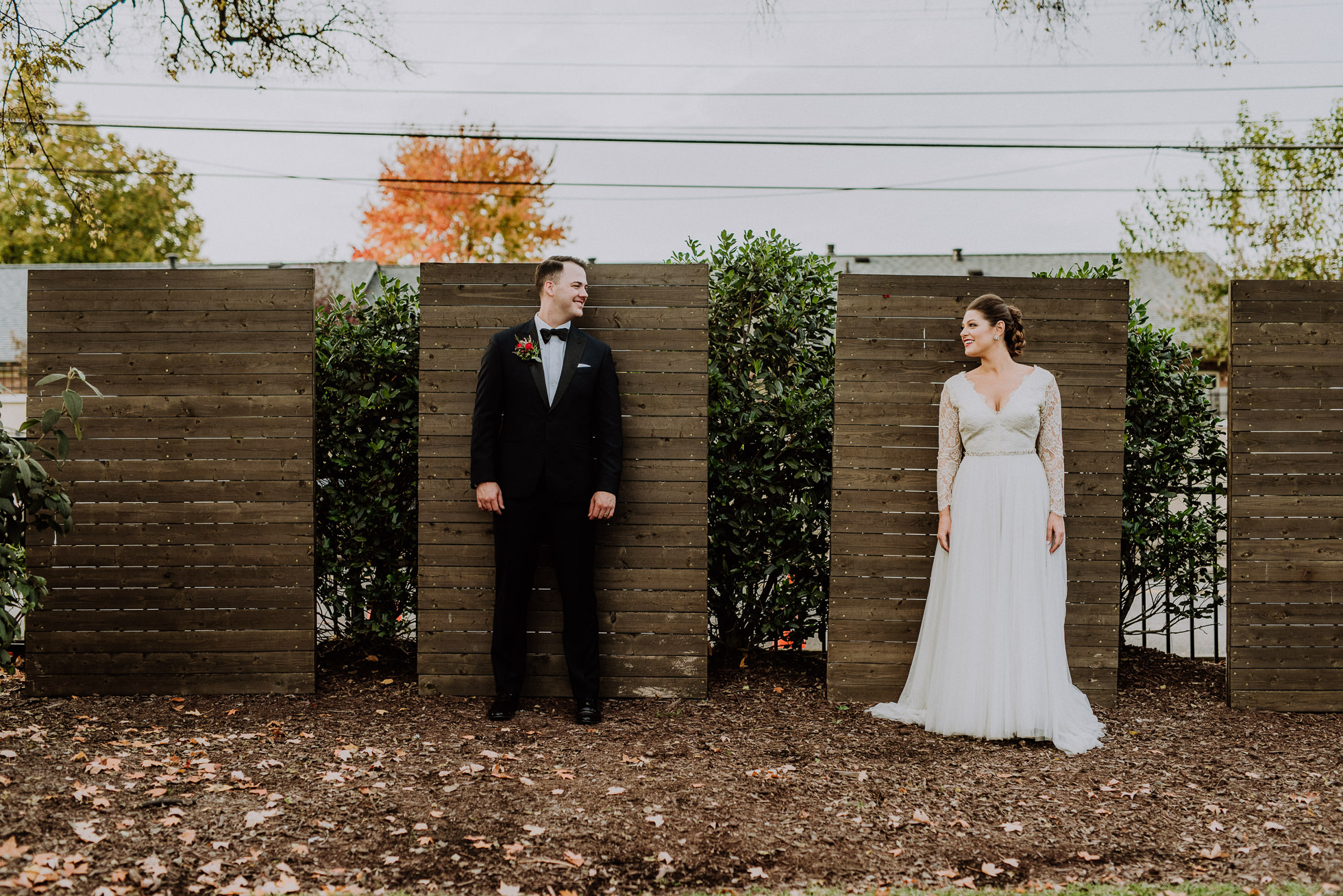 bride and groom apart outside of the cordelle nashville
