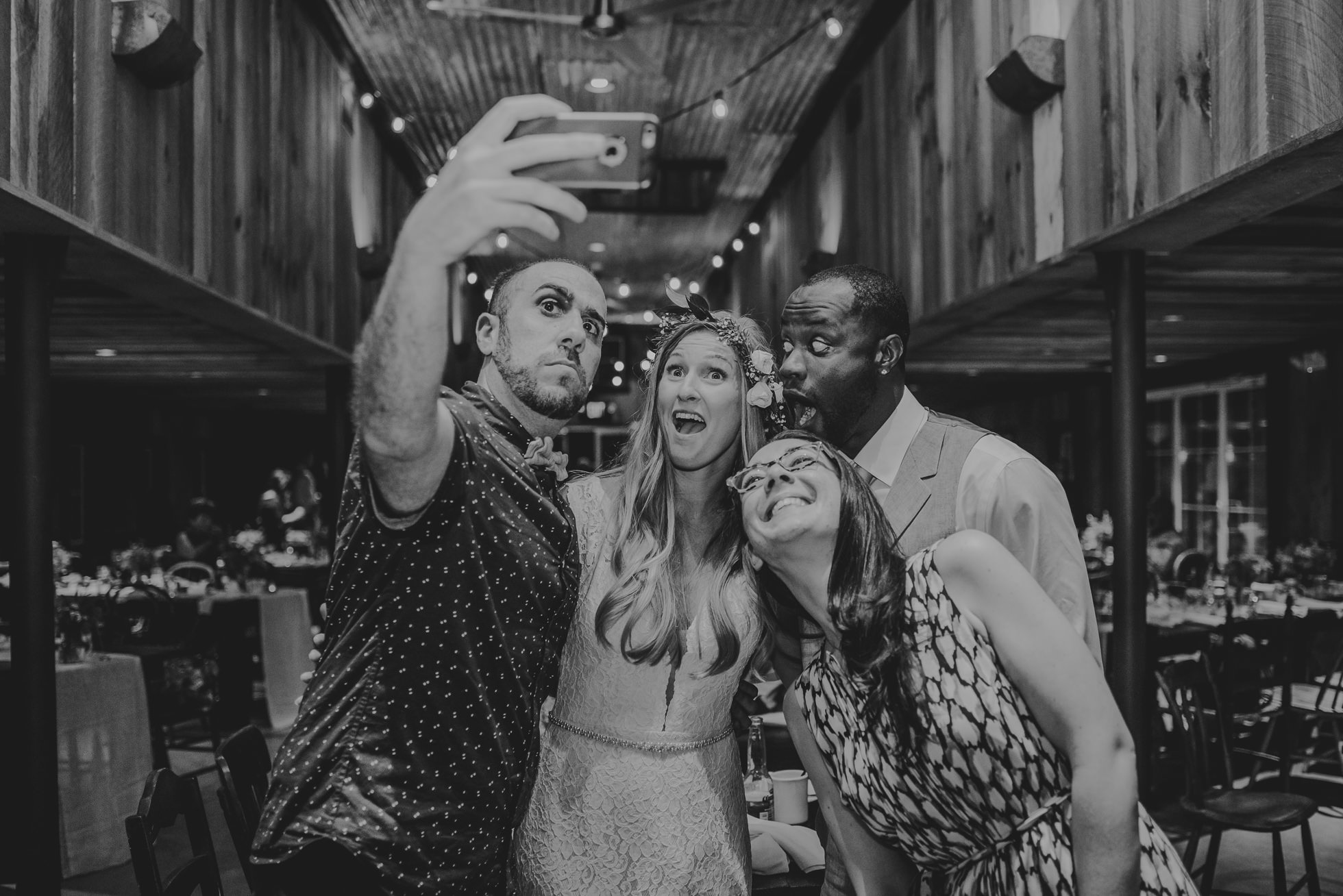 wedding selfie bride groom photographed by Traverse the Tides