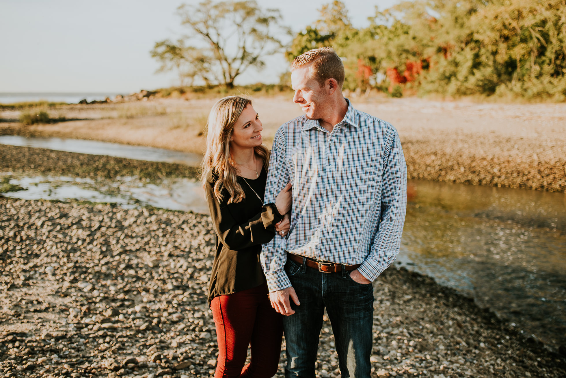 autumn engagement session photographed by Traverse the Tides