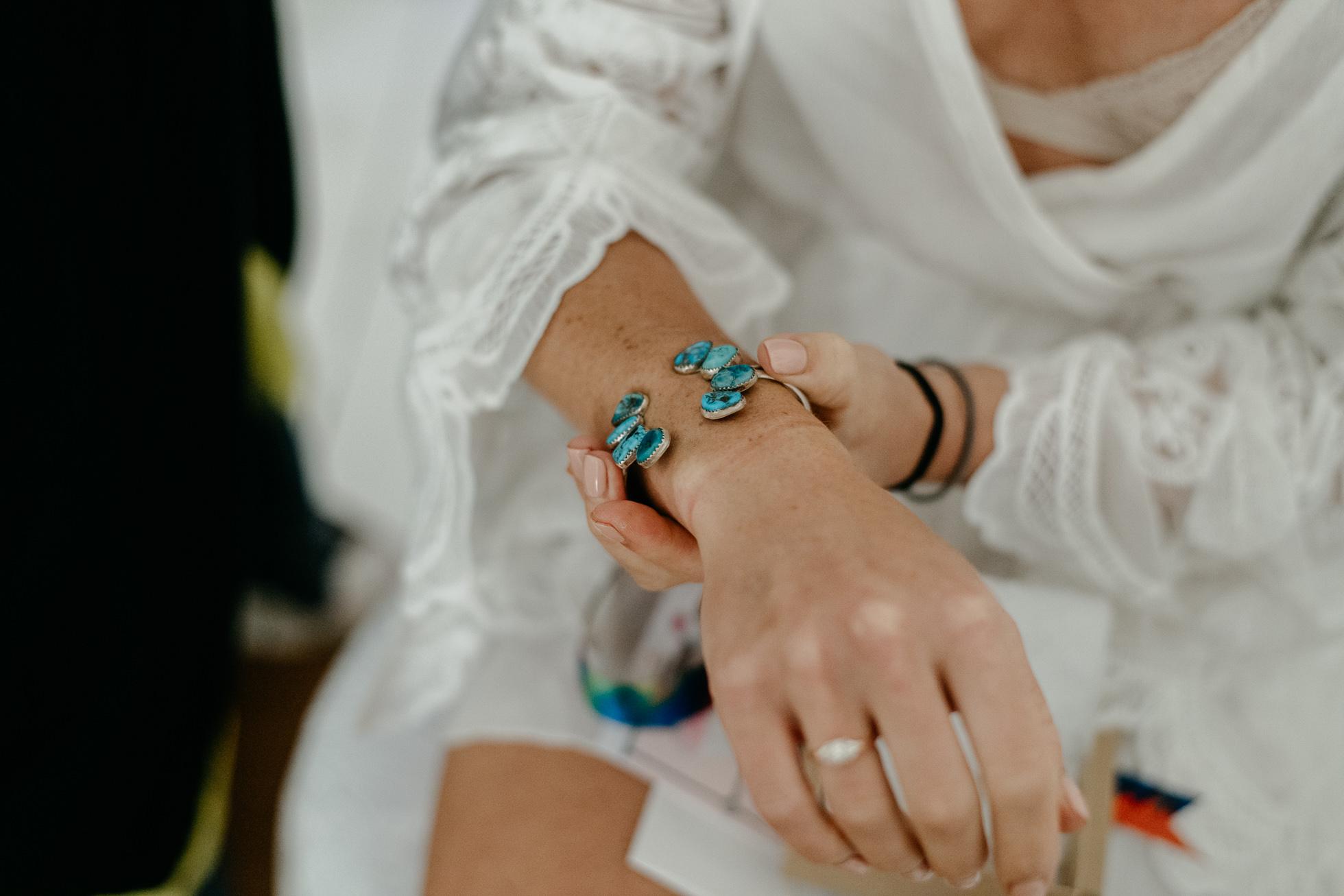 bohemian wedding bracelet