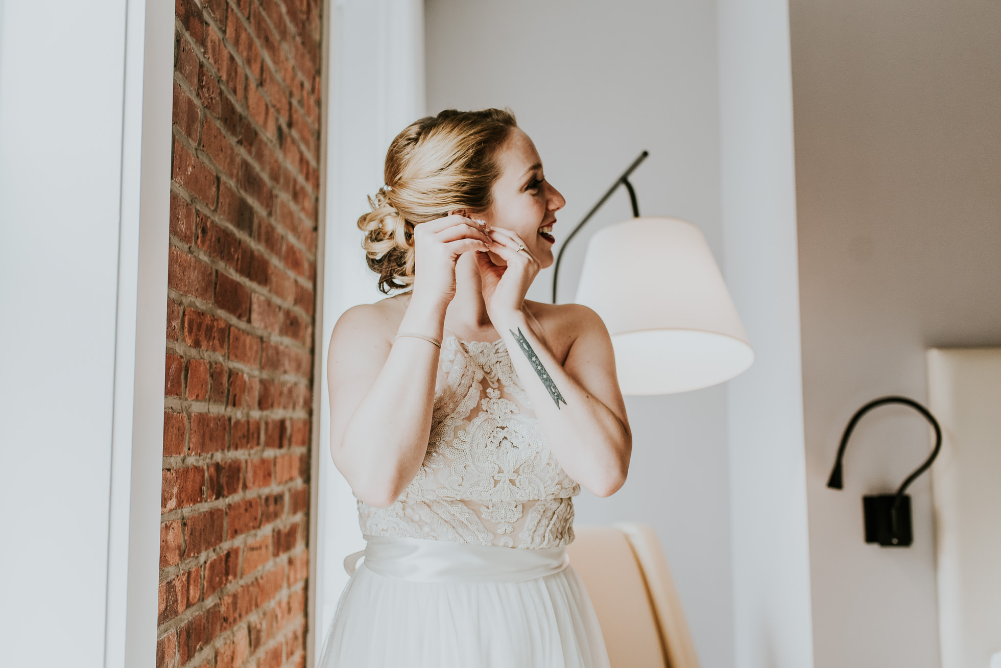 bridal earrings photographed by Traverse The Tides
