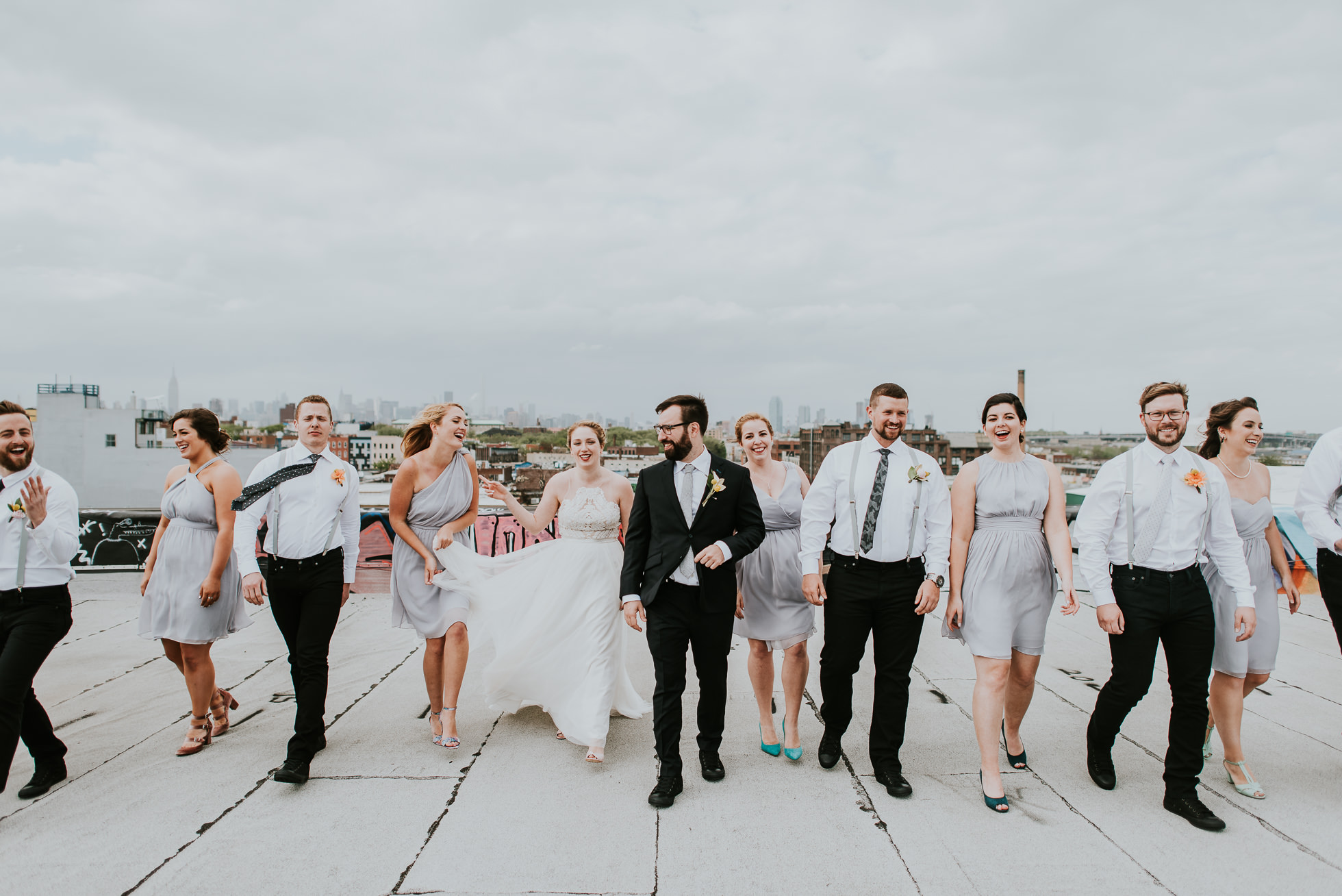 bridal party photos photographed by Traverse The Tides
