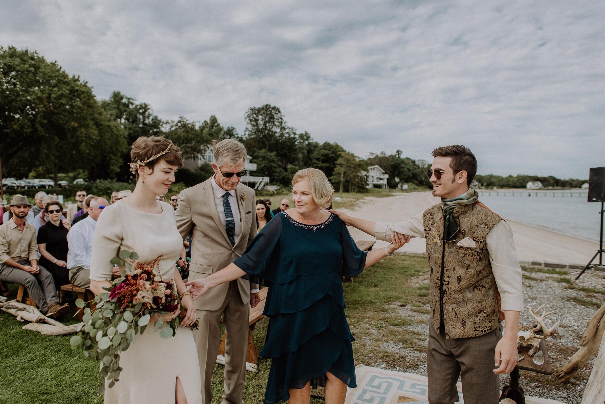 bride hand off