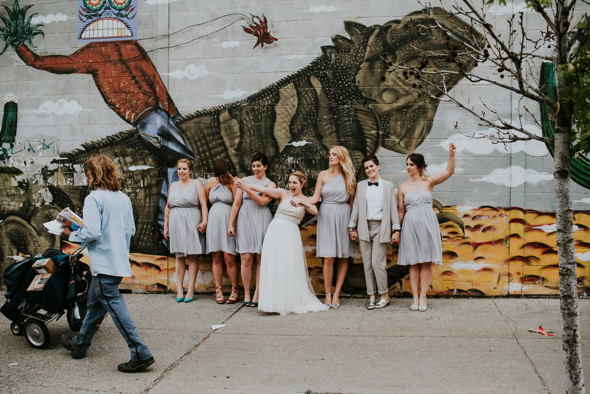 bridesmaids iguana graffiti photographed by Traverse The Tides