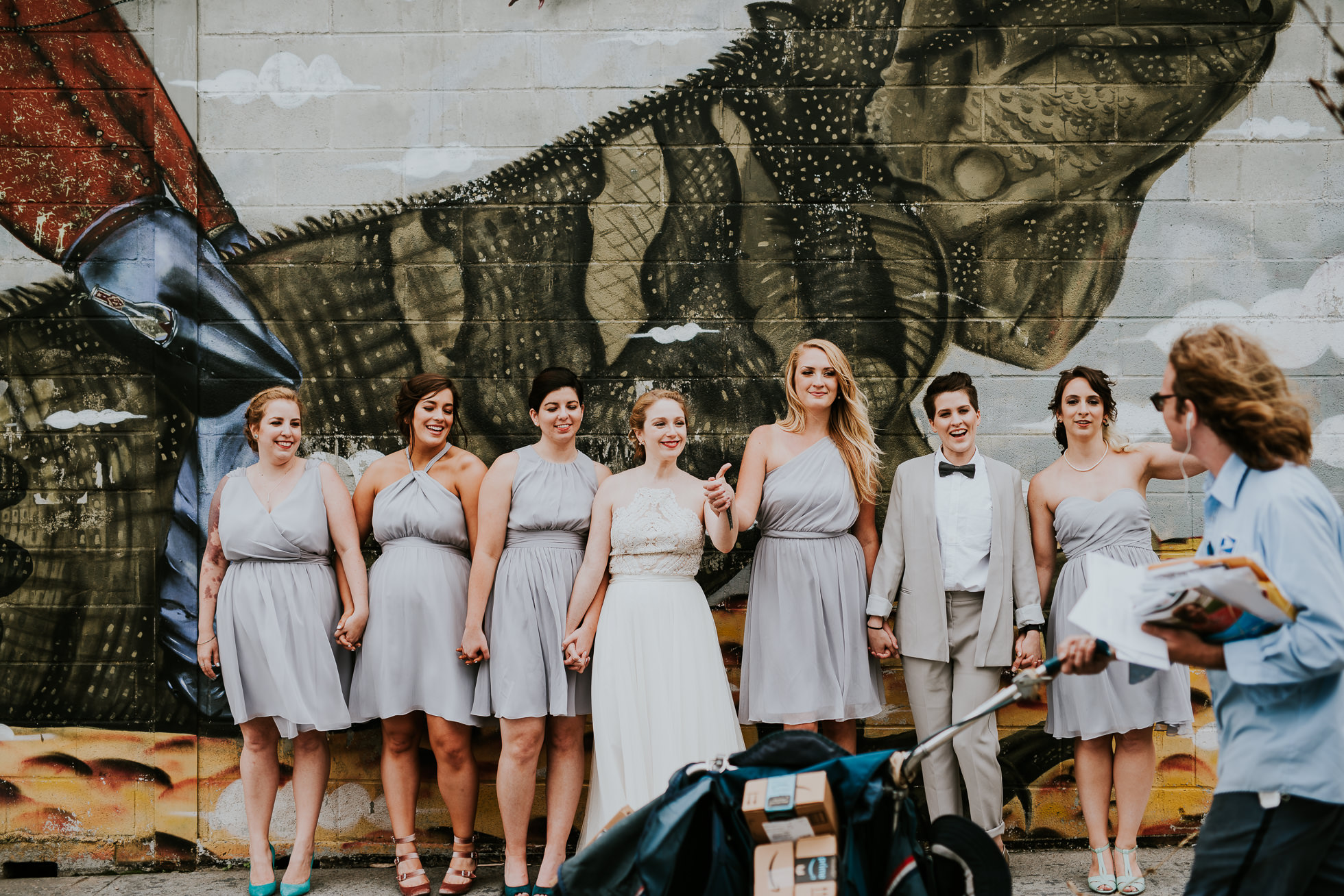 bridesmaids street photos photographed by Traverse The Tides