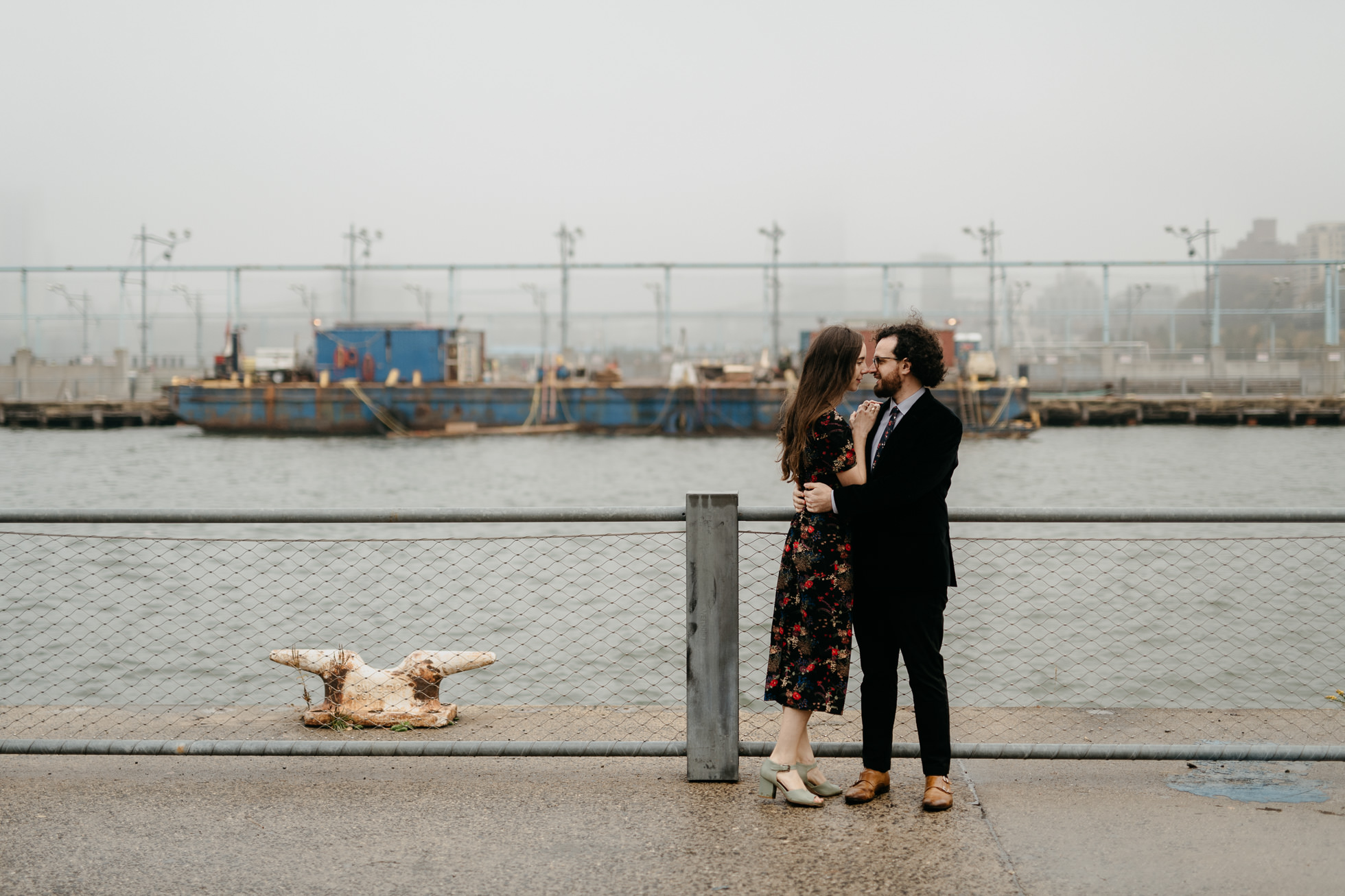 Brooklyn pier engagement session