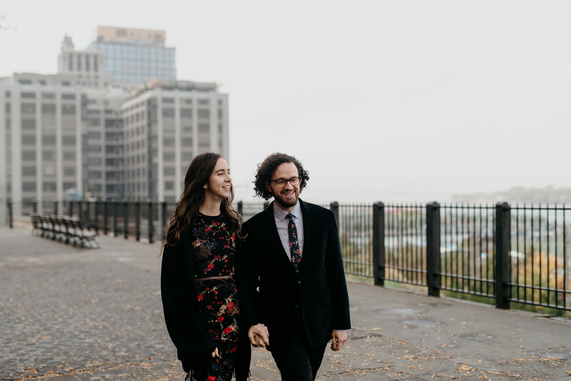 Brooklyn Promenade engagement photos