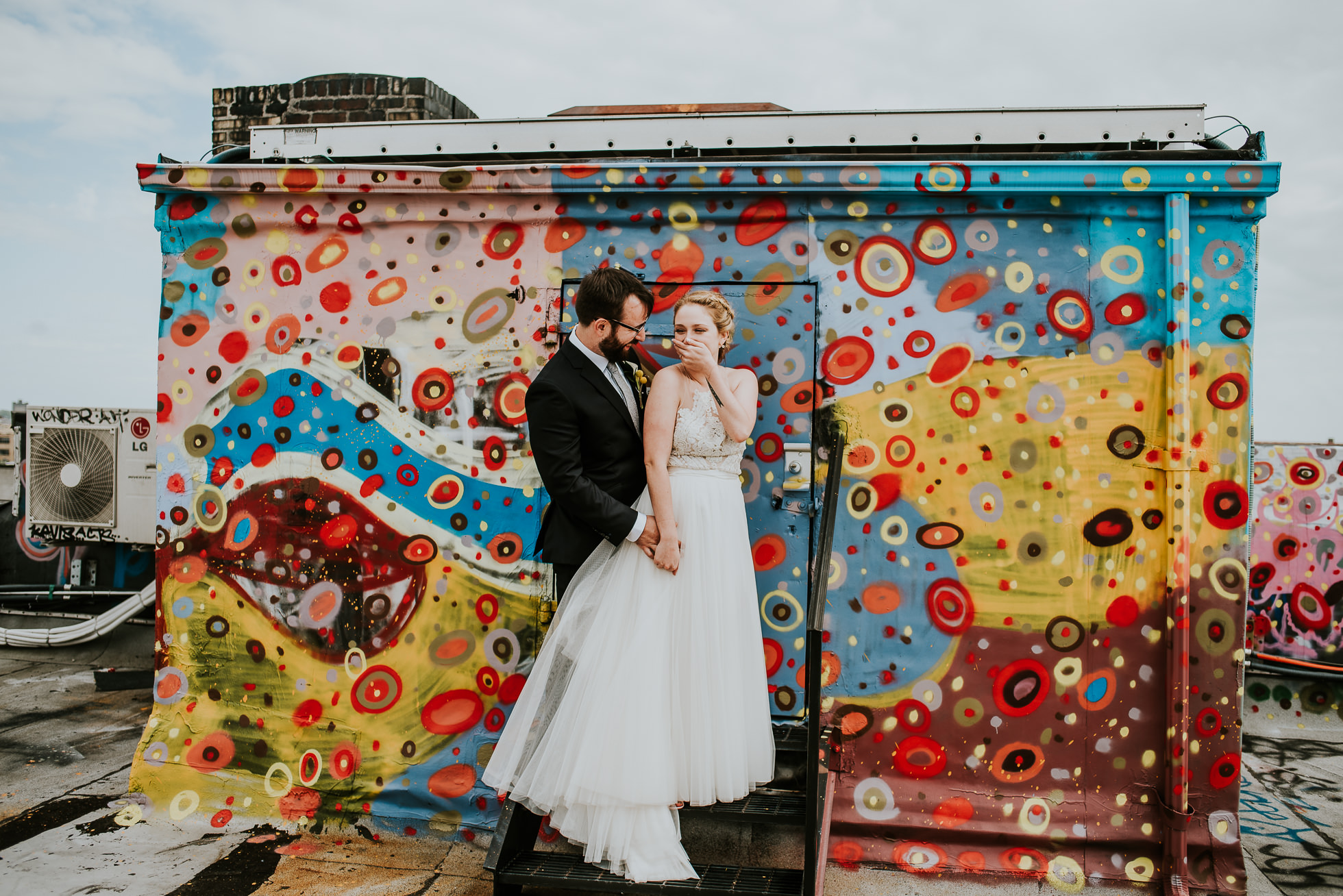 bushwick rooftop wedding photographed by Traverse The Tides