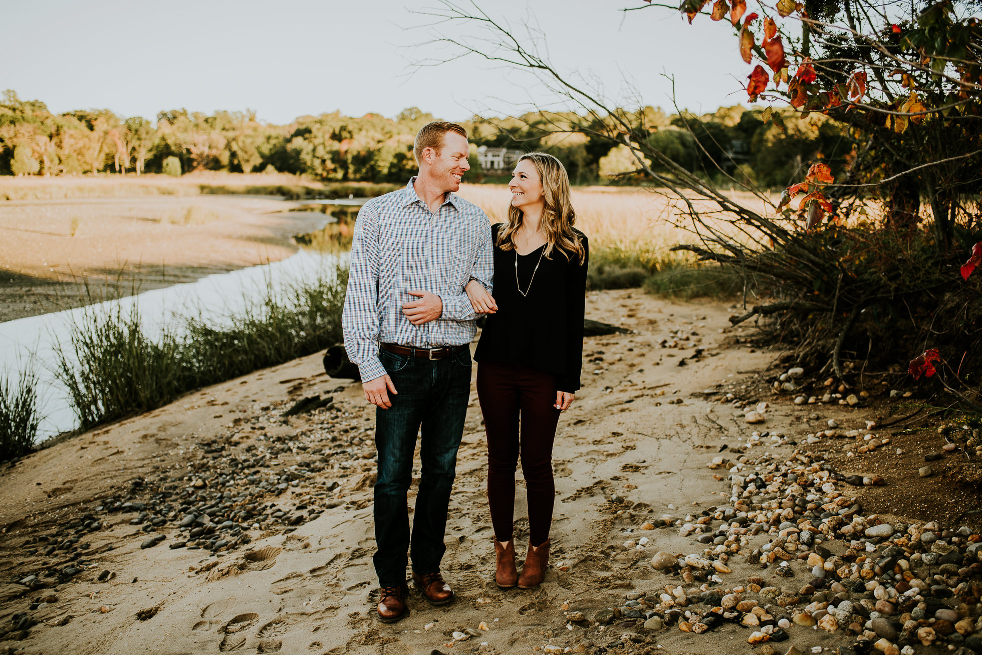 candid engagement session photographed by Traverse the Tides