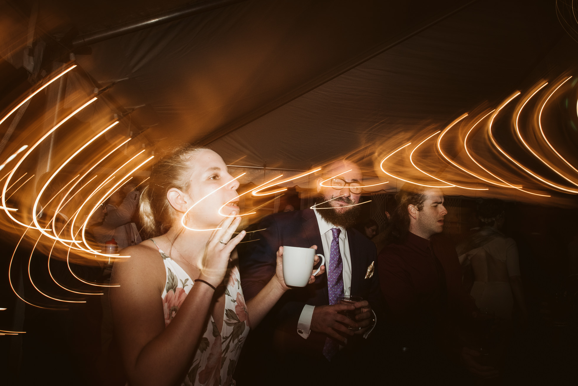 crazy lights wedding reception