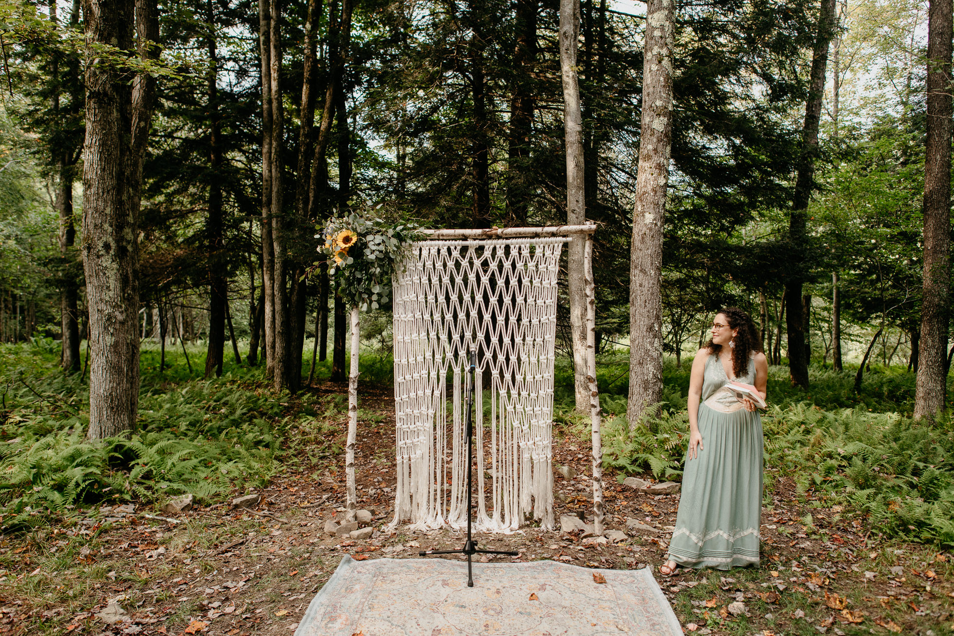 custom rustic wedding arch new york