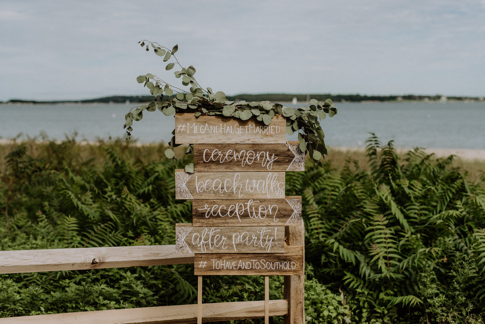 custom wood wedding signs
