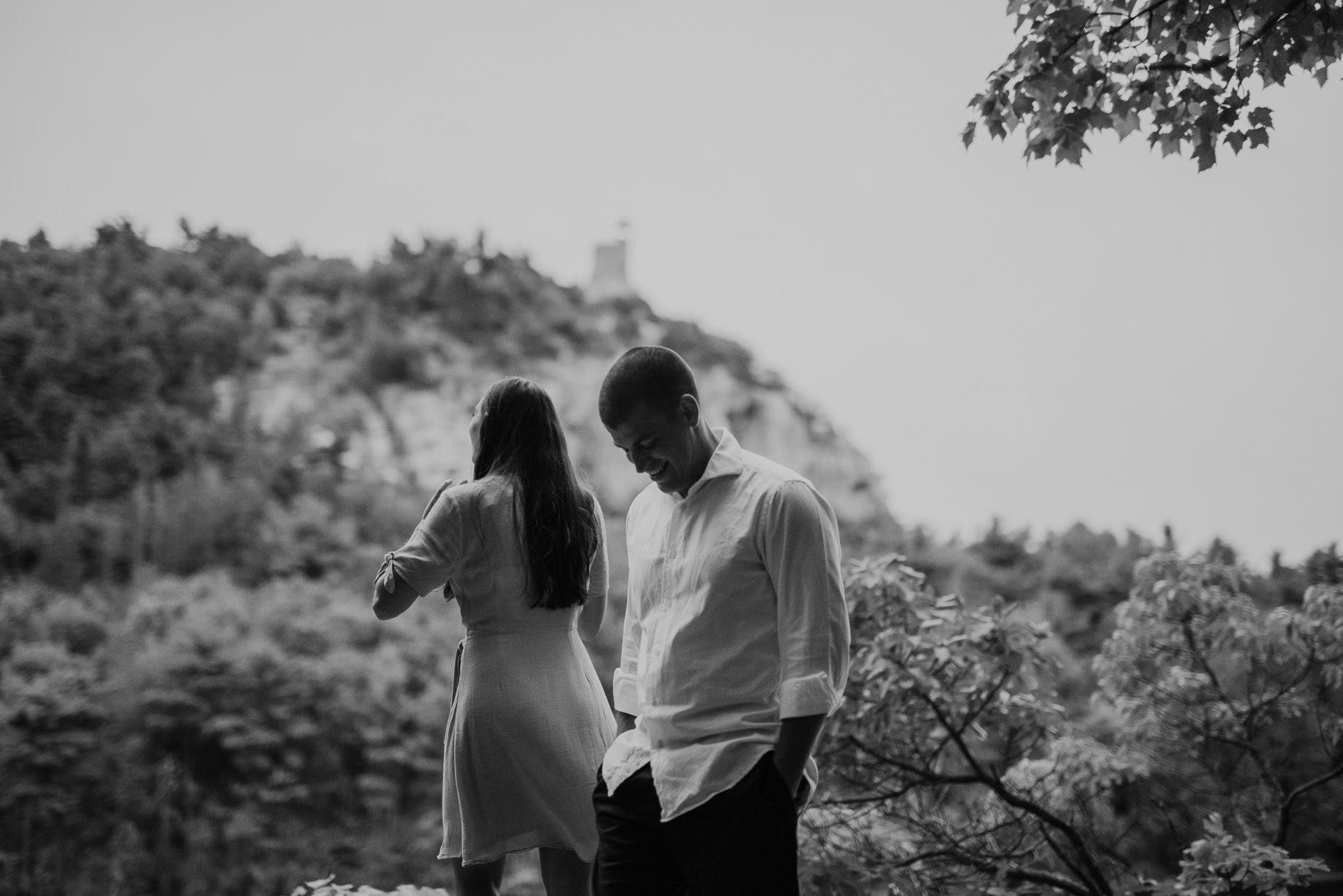dramatic engagement photos