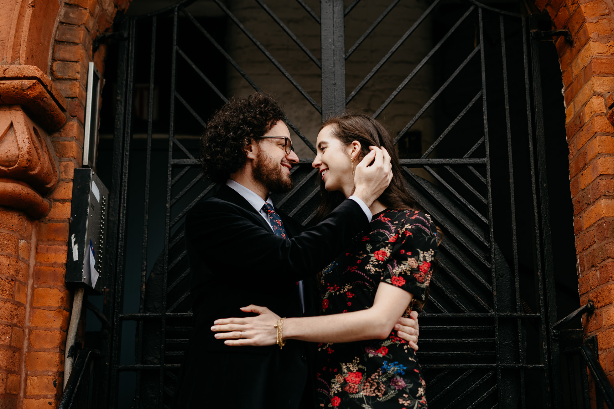 emotional Brooklyn engagement session