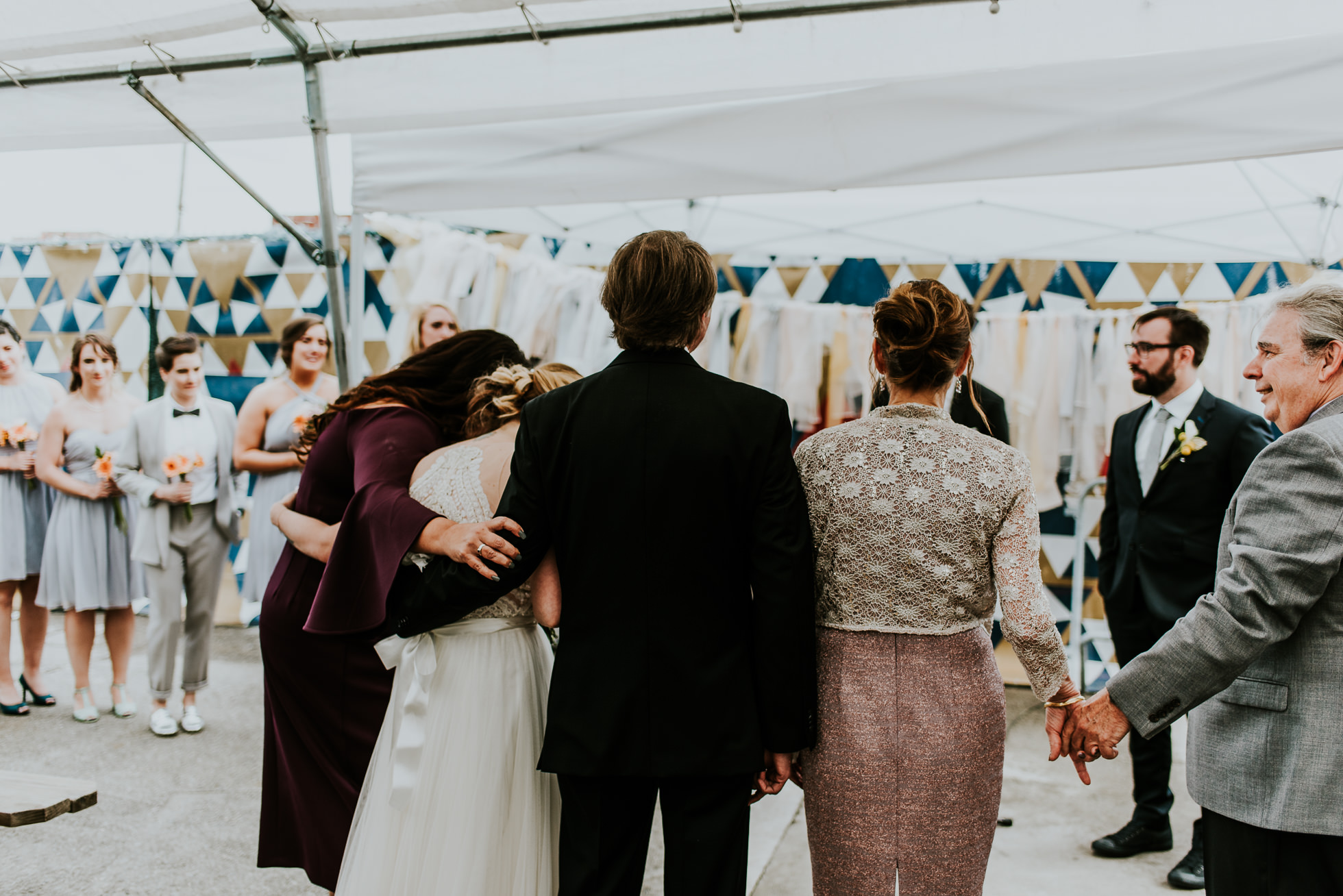 emotional family wedding photographed by Traverse The Tides