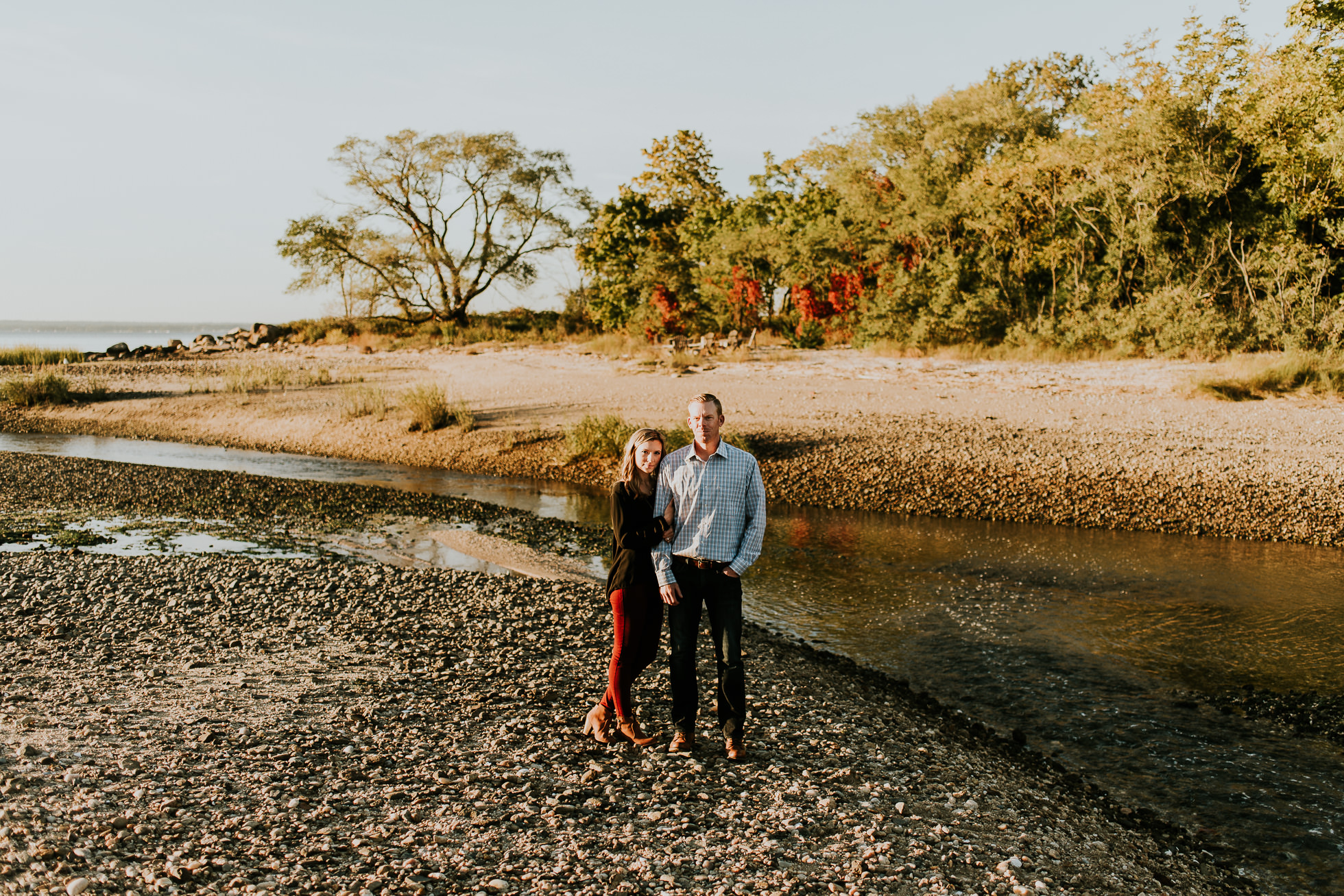 fall engagement session photographed by Traverse the Tides