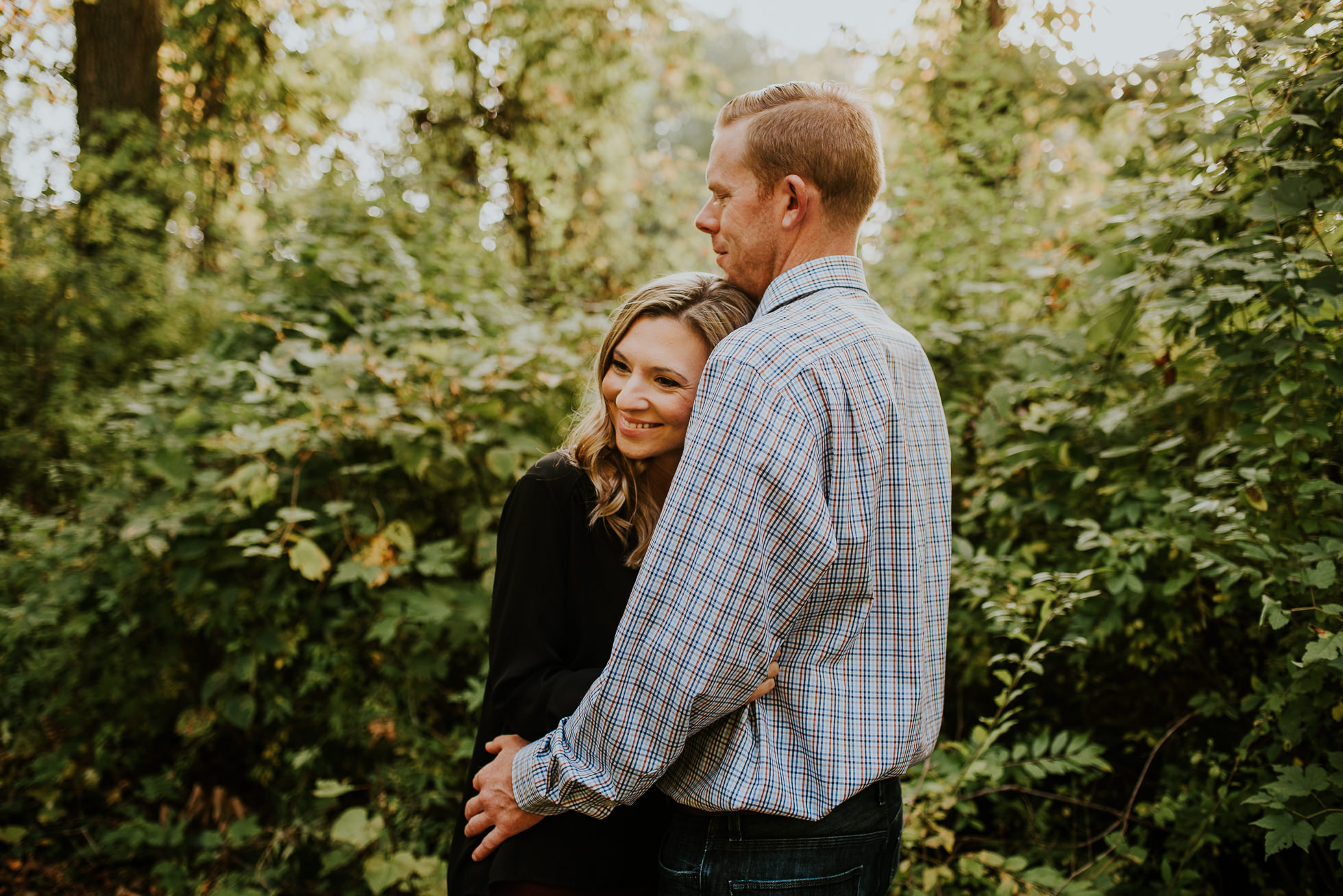 forest engagement session photographed by Traverse the Tides