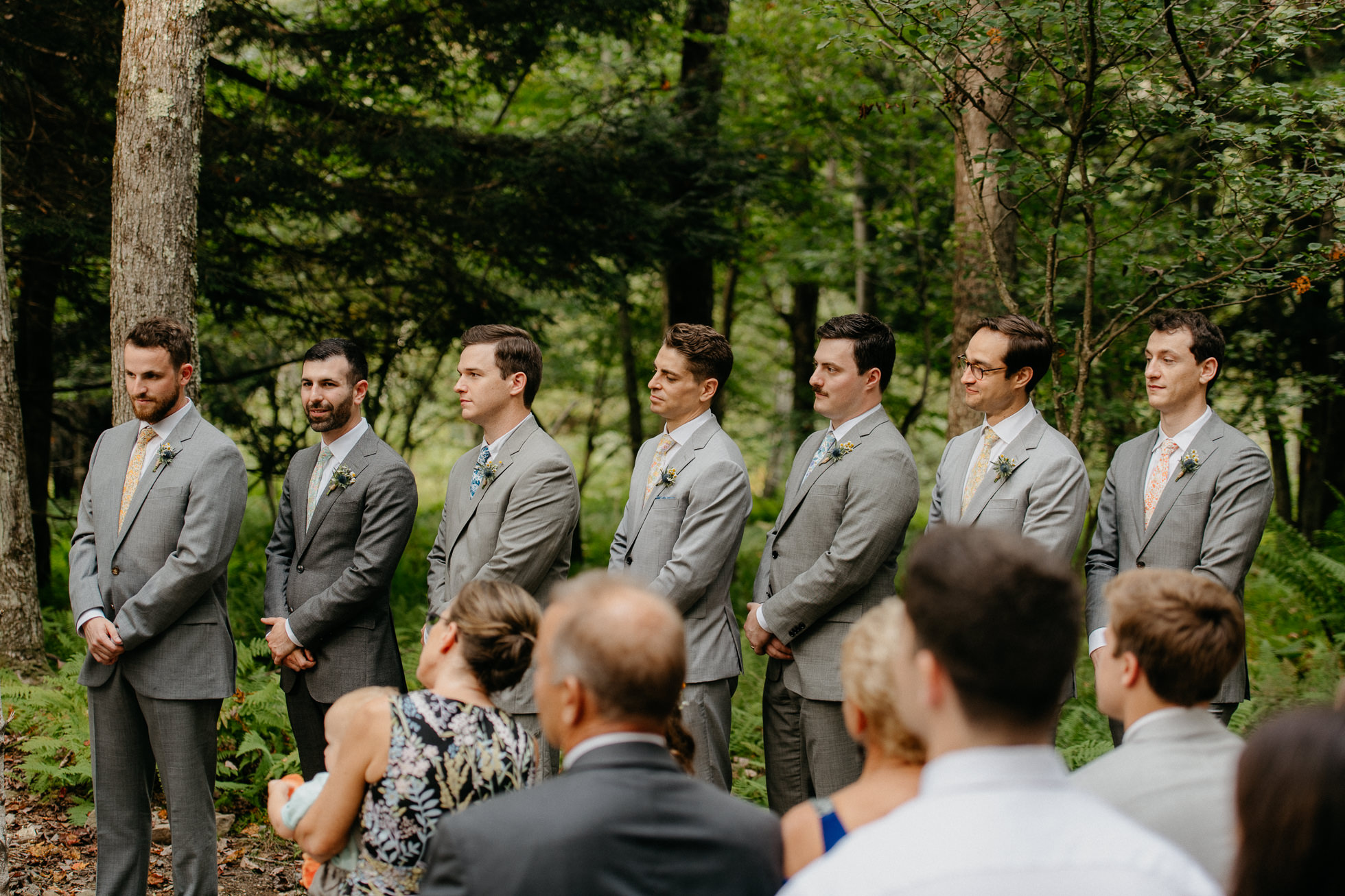 gray groomsmen suits new york