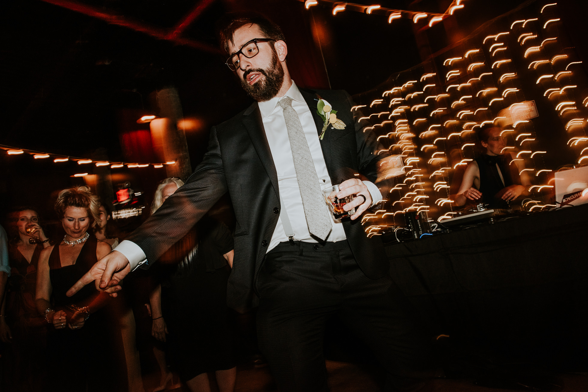 groom dancing brooklyn weddingphotographed by Traverse The Tides