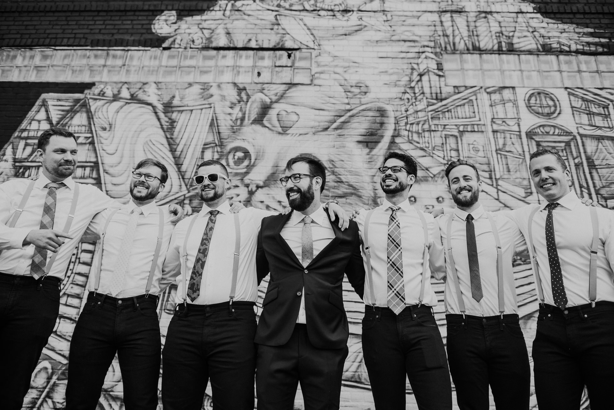 groomsmen graffiti photographed by Traverse The Tides