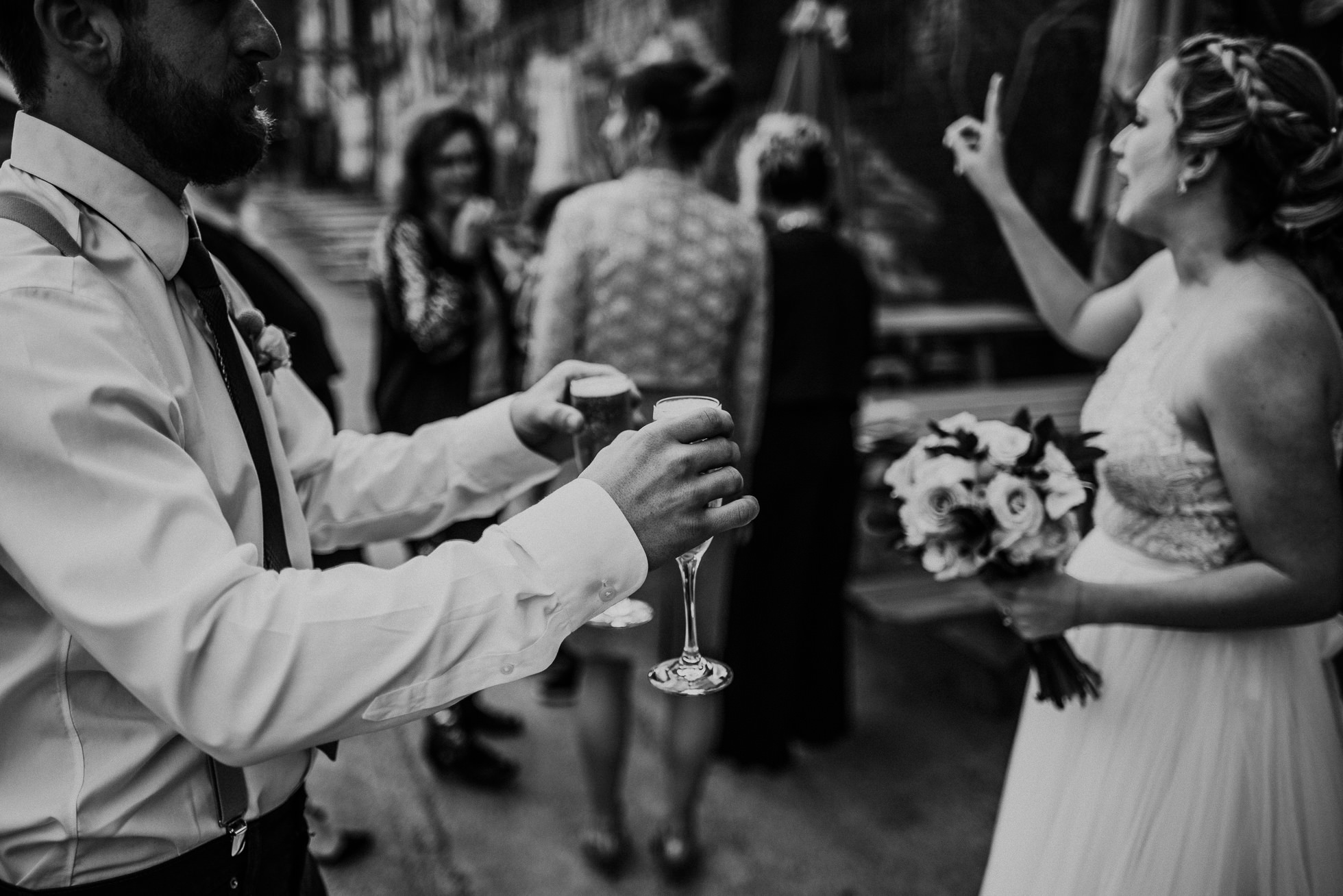 hipster brooklyn wedding photographed by Traverse The Tides