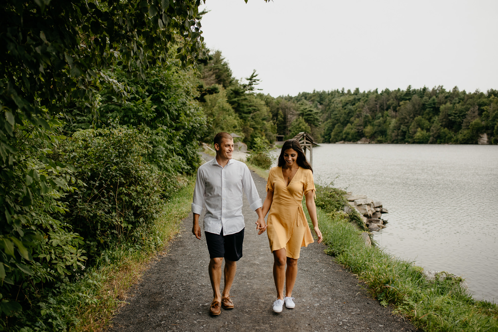 lake engagement photos