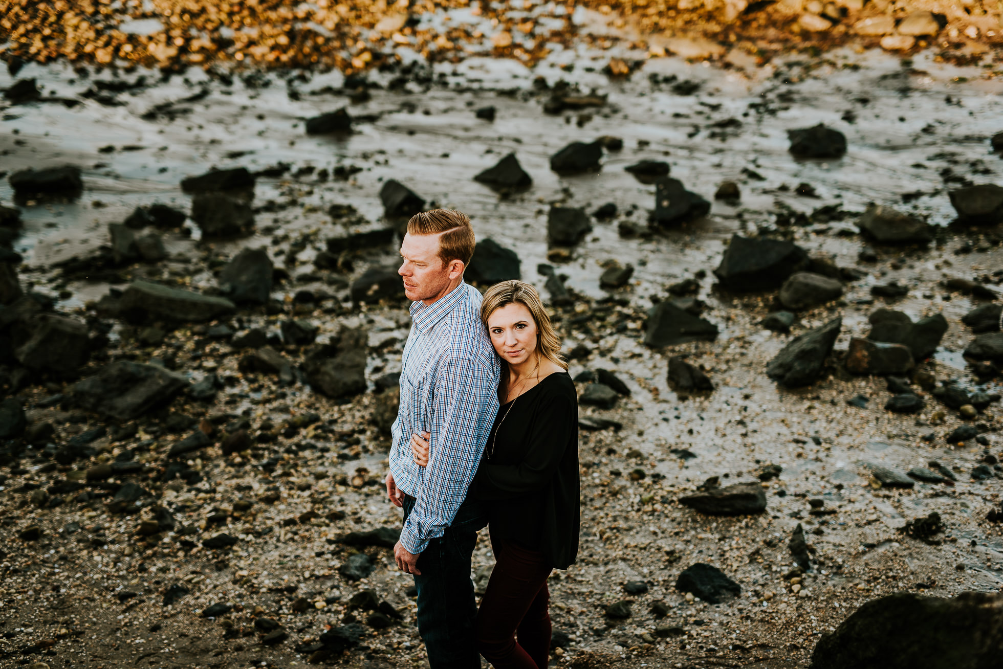 Long Island sound engagement session photographed by Traverse the Tides