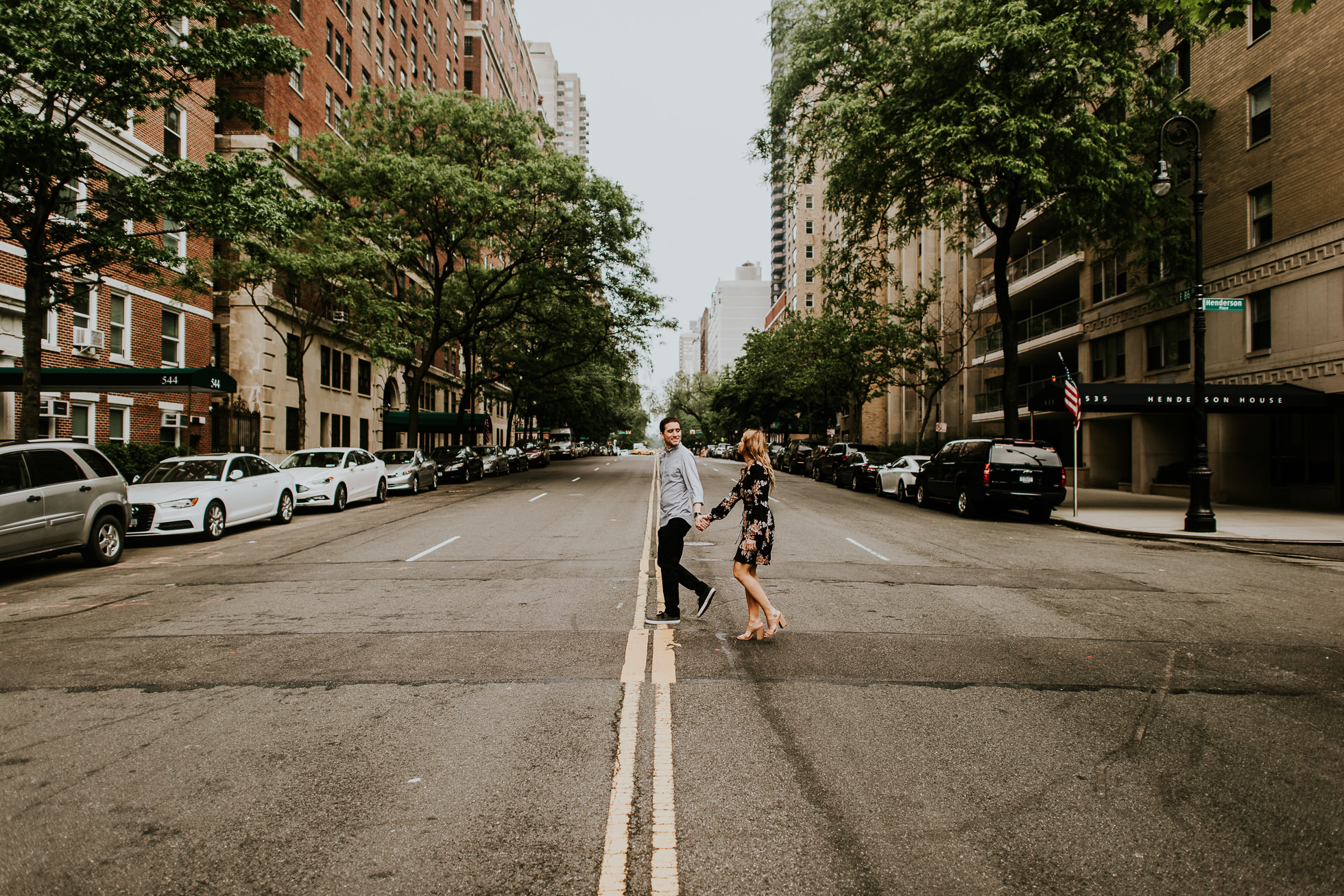 middle of street wedding photographed by Traverse the Tides38