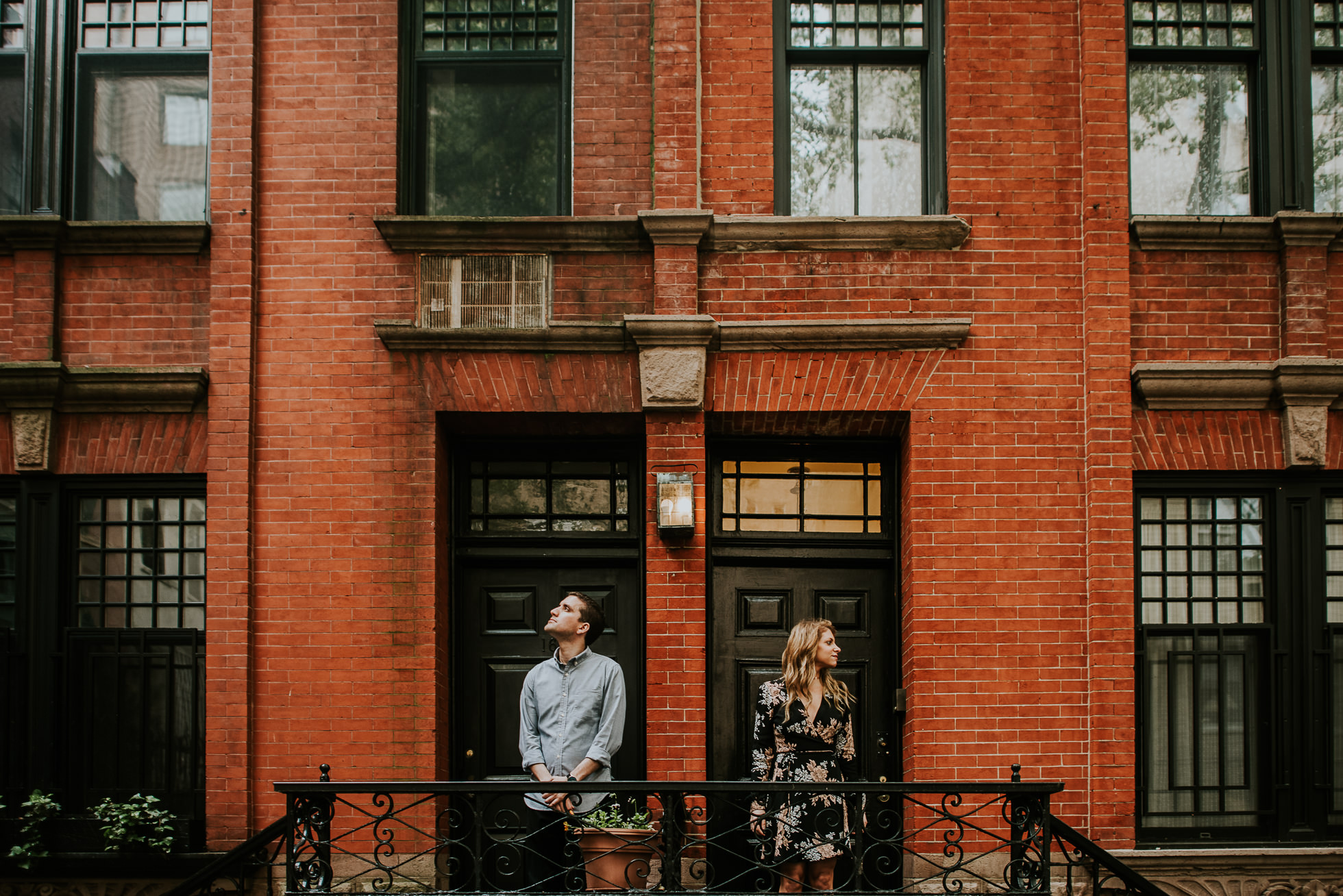 new york city street engagement photos photographed by Traverse the Tides30
