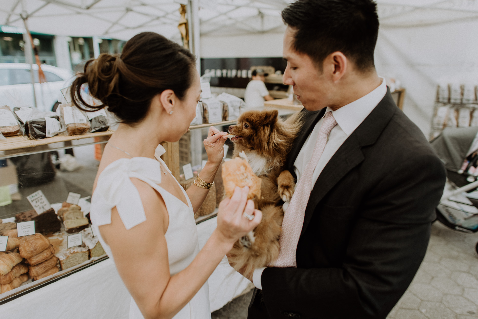 NYC farmers market engagement session
