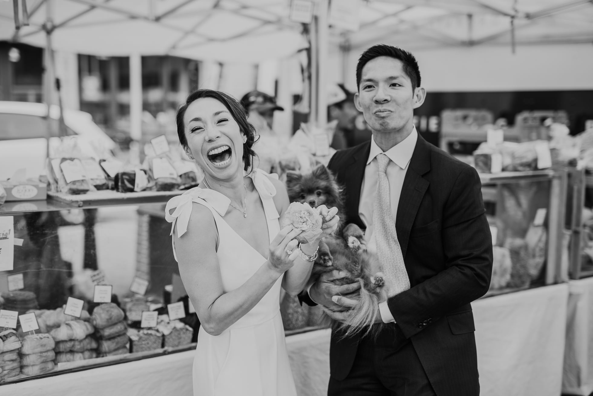 NYC farmers market wedding