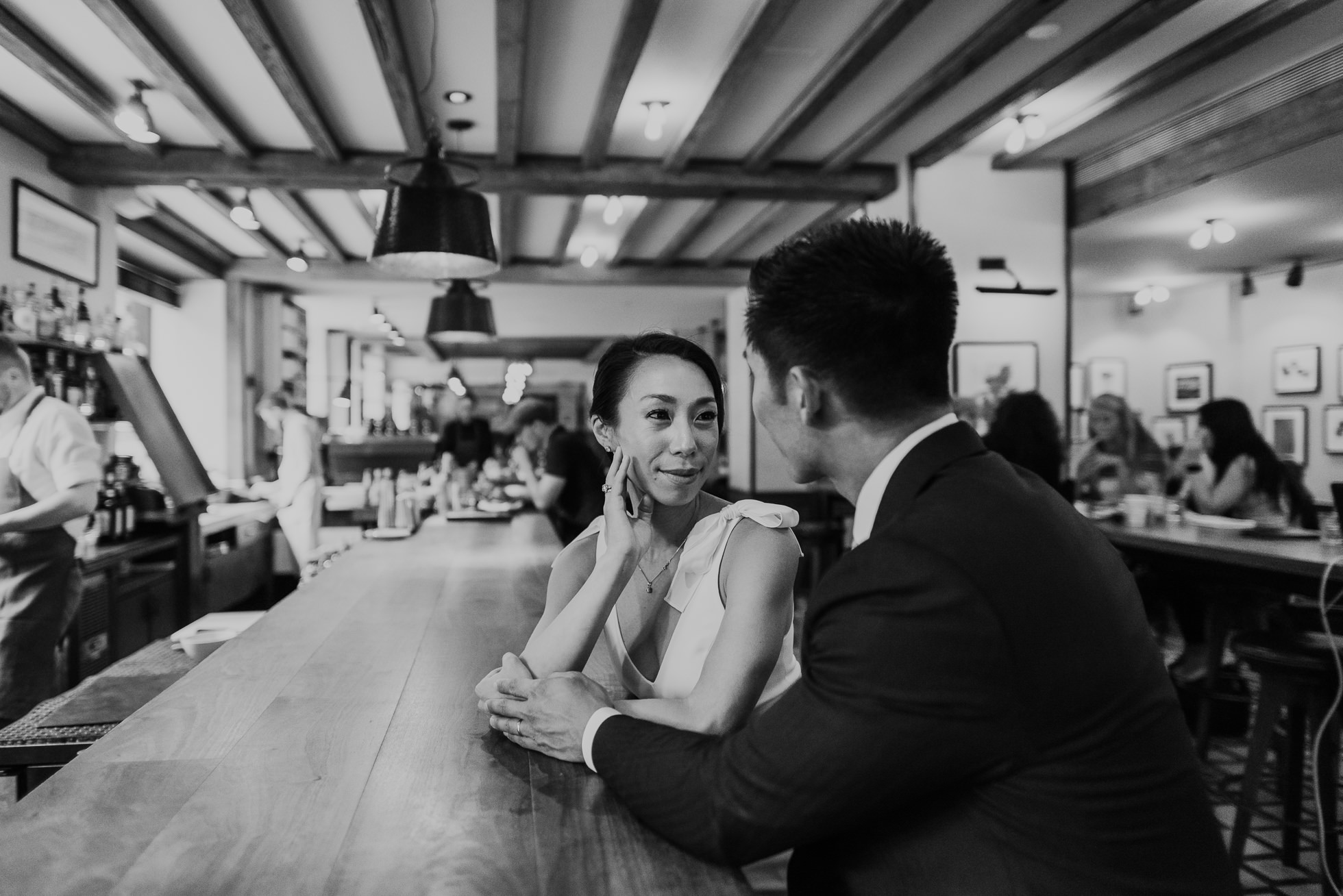 NYC restaurant engagement session