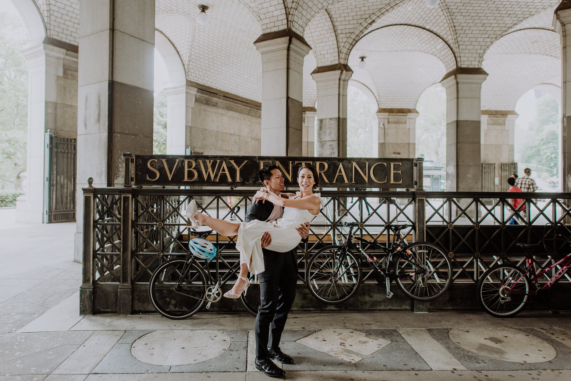 NYC subway elopement photos