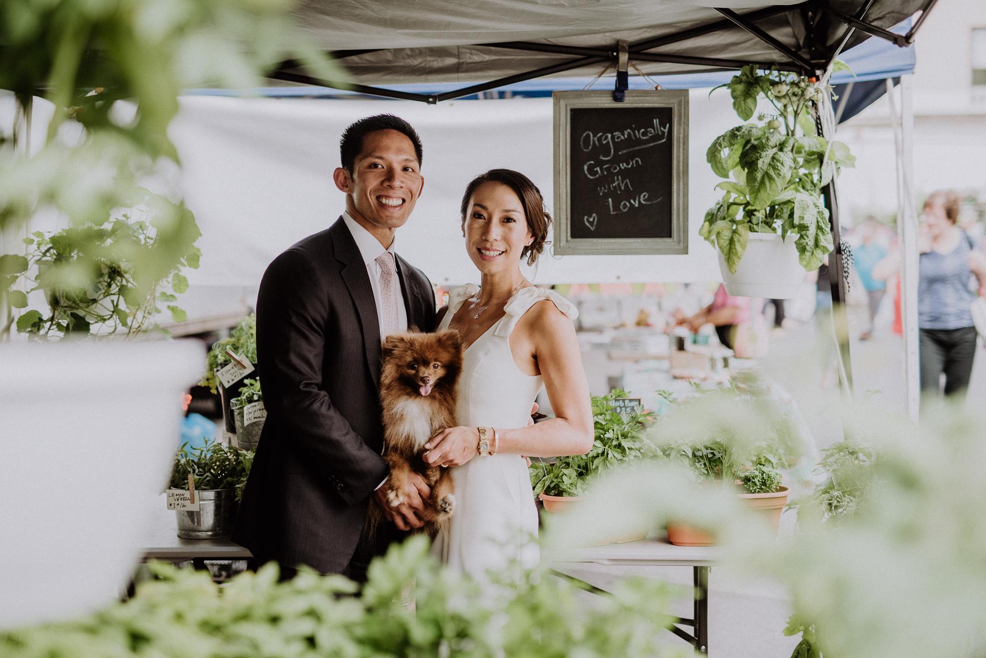 organic market wedding