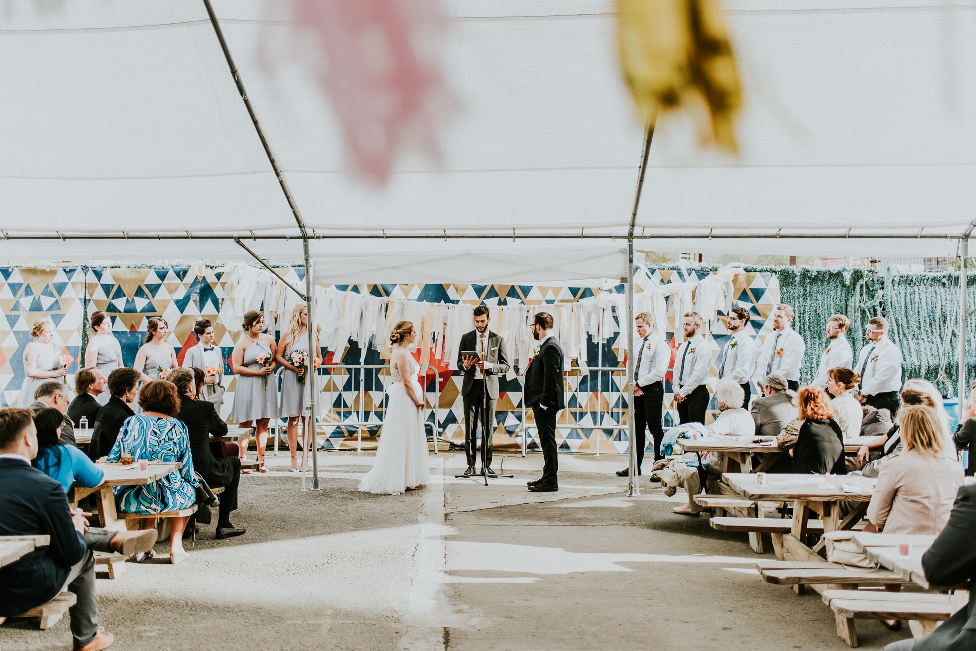outdoor wedding ceremony photographed by Traverse The Tides