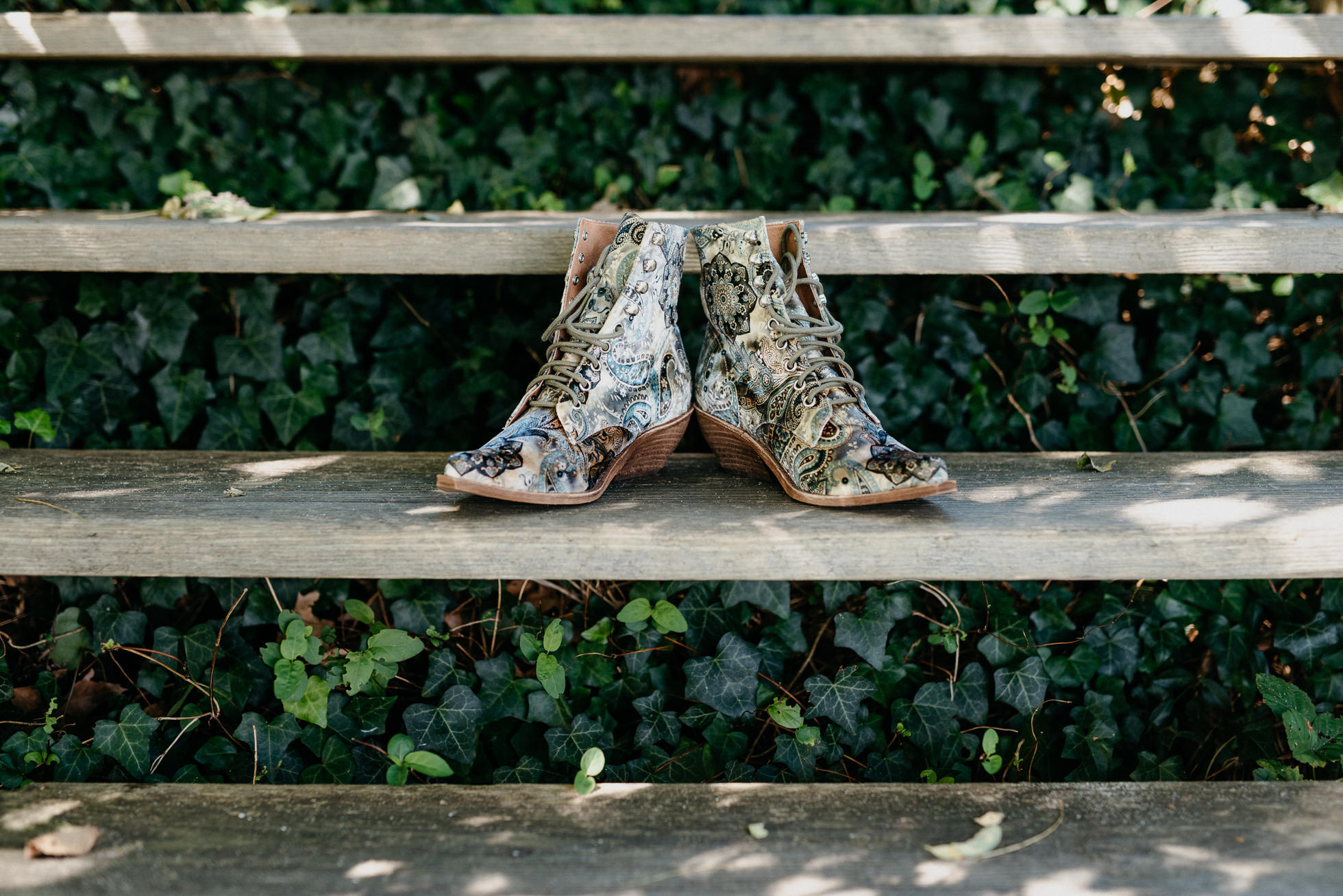 paisley wedding boots