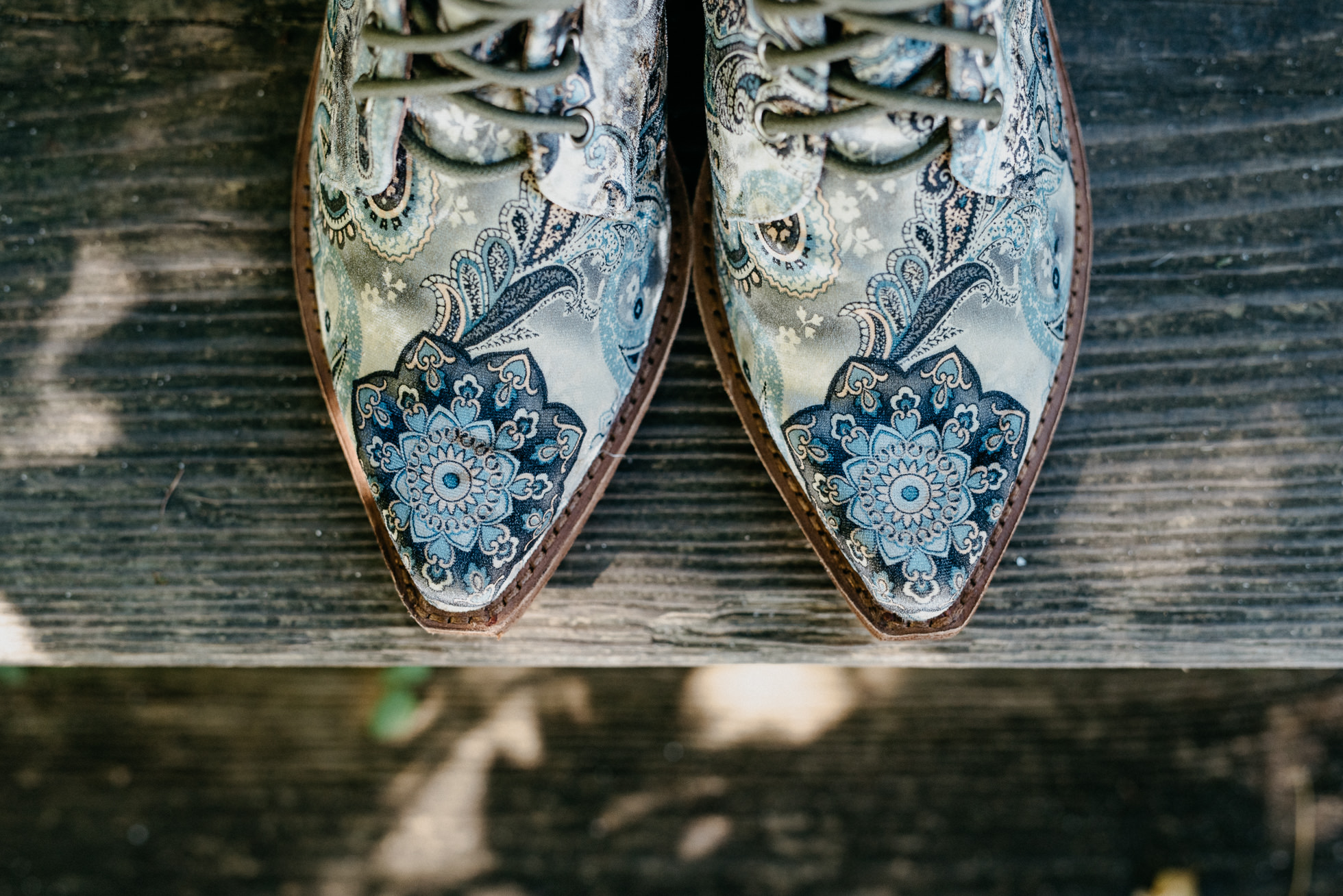 paisley wedding shoes