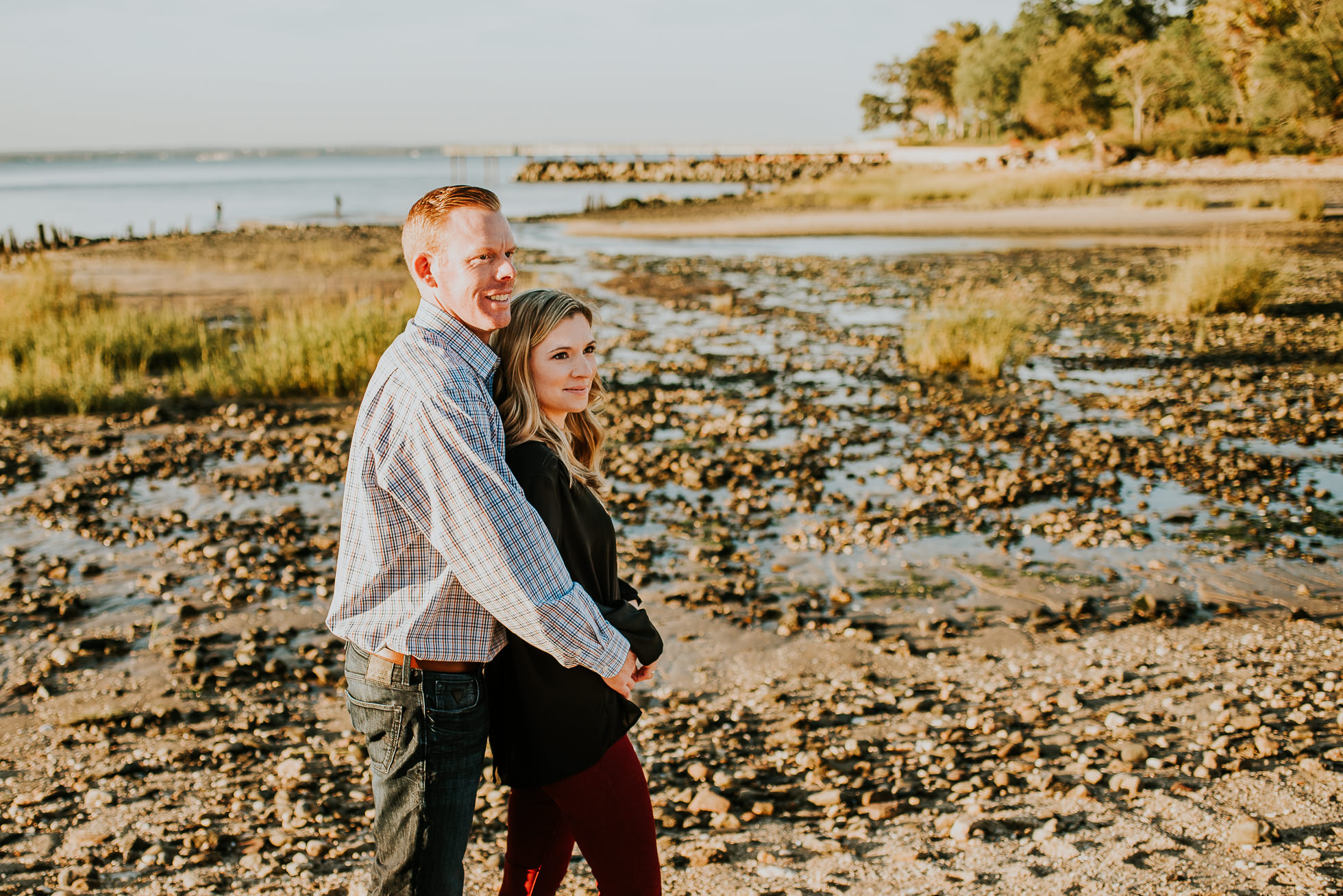 romantic beach engagement session photographed by Traverse the Tides