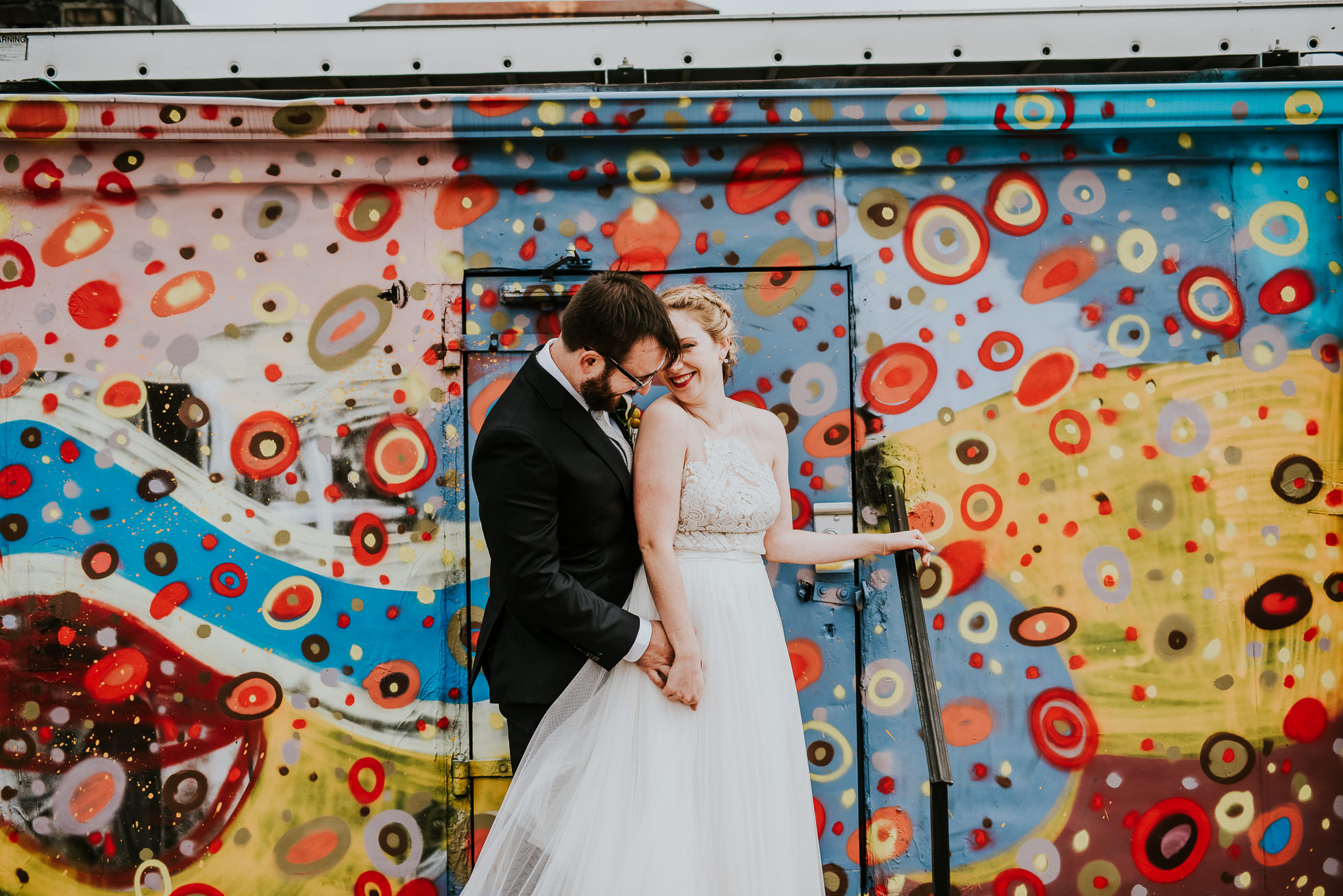 rooftop wedding pictures photographed by Traverse The Tides