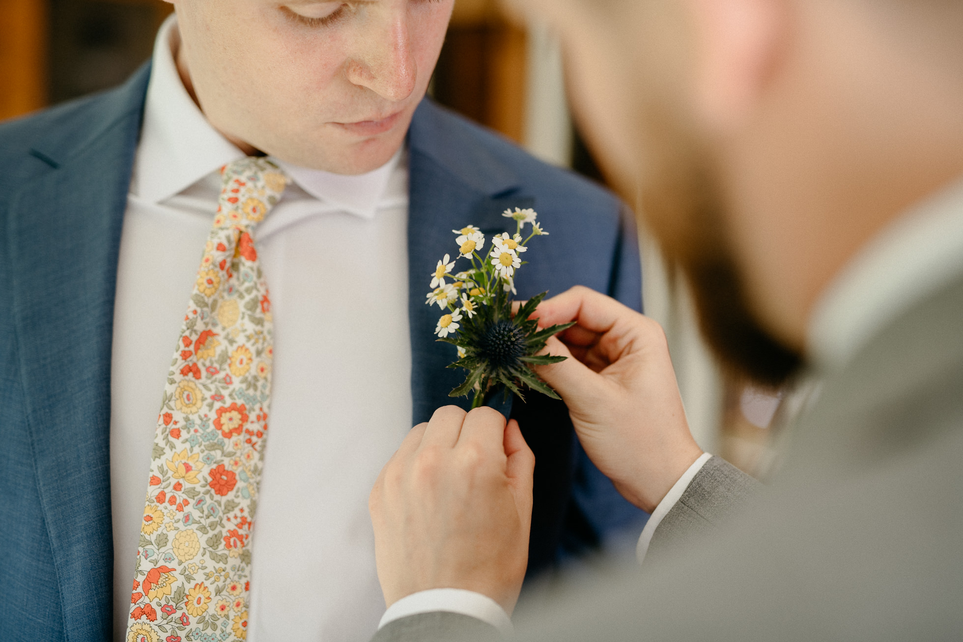rustic boutonniere hudson valley
