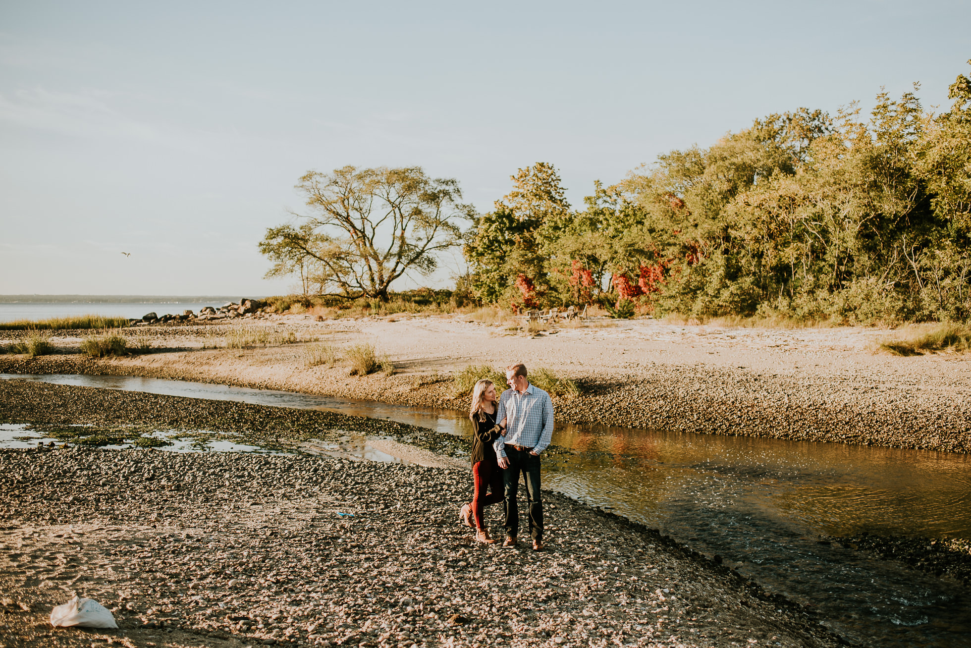 sweet engagement session photographed by Traverse the Tides