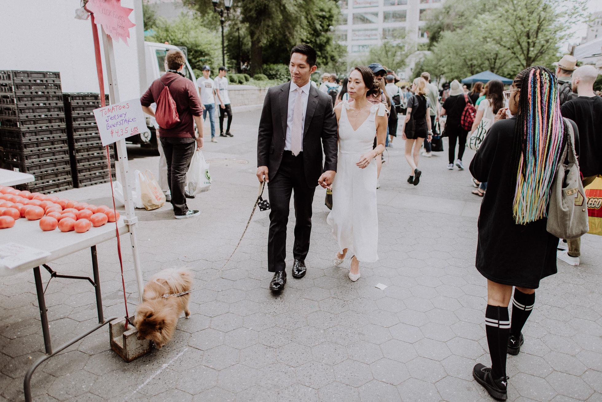 Union Square Greenmarket wedding photos
