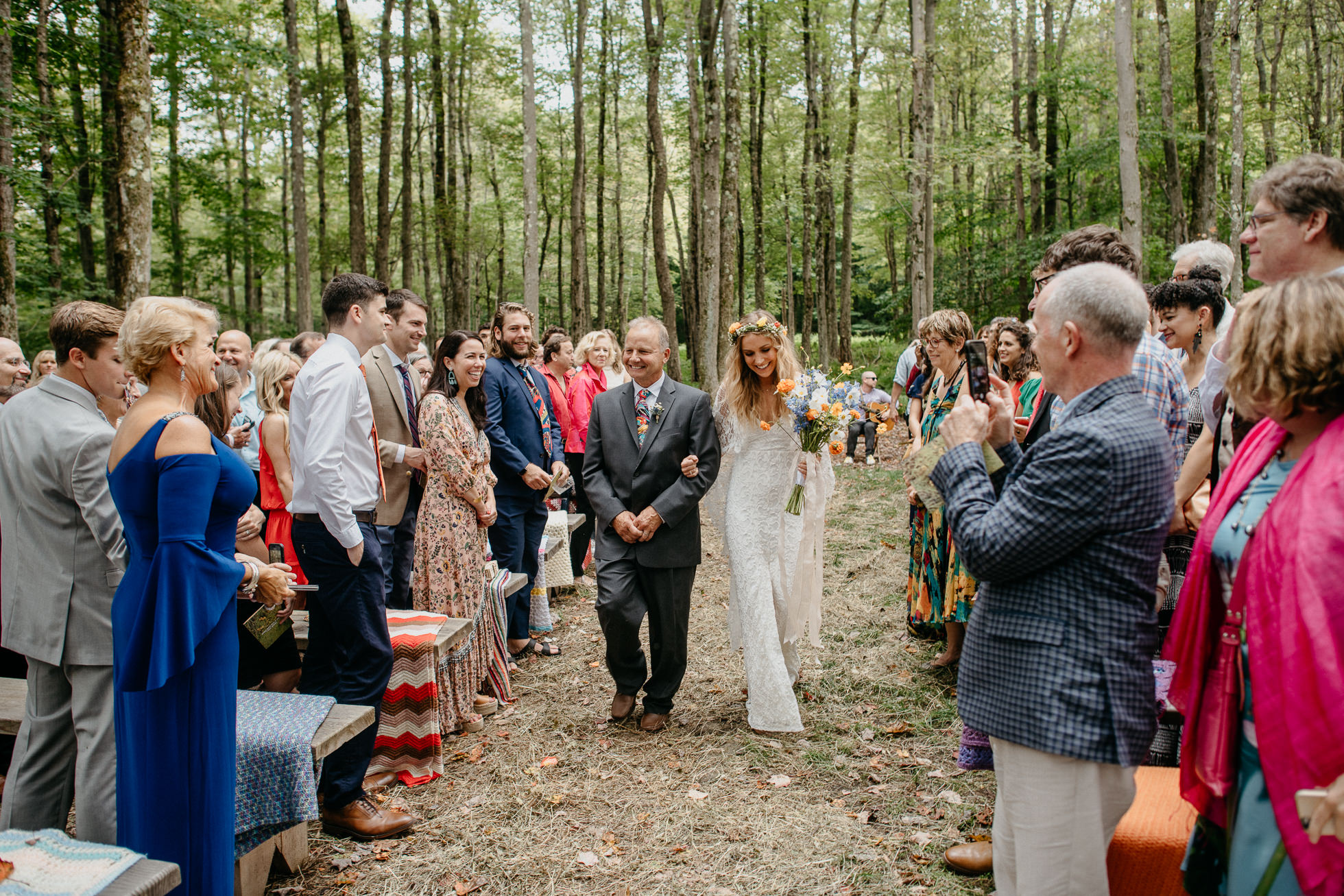 upstate new york forest wedding