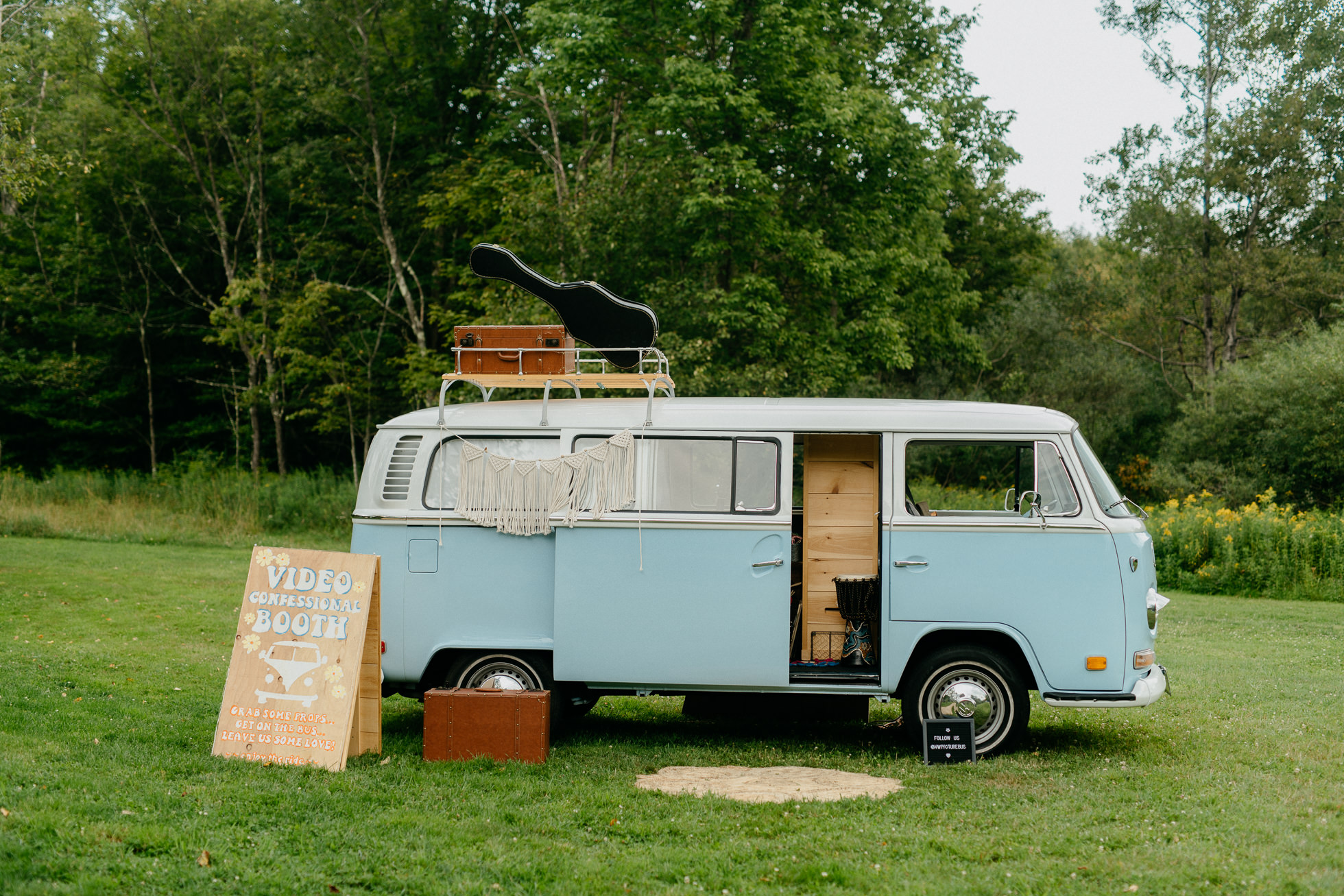 vw bus rental wedding