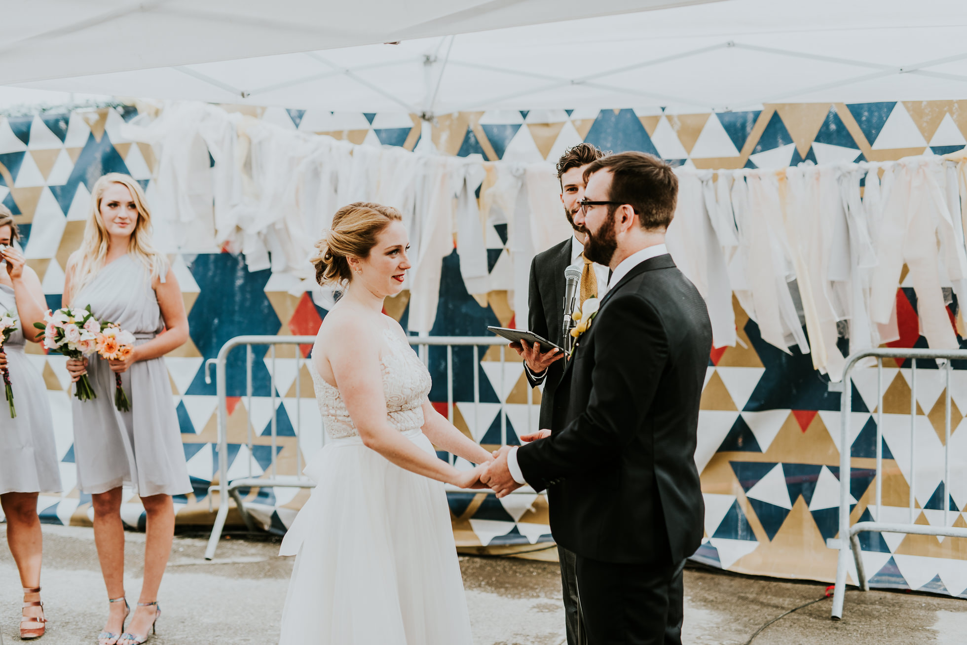 wedding ceremony brooklyn photographed by Traverse The Tides