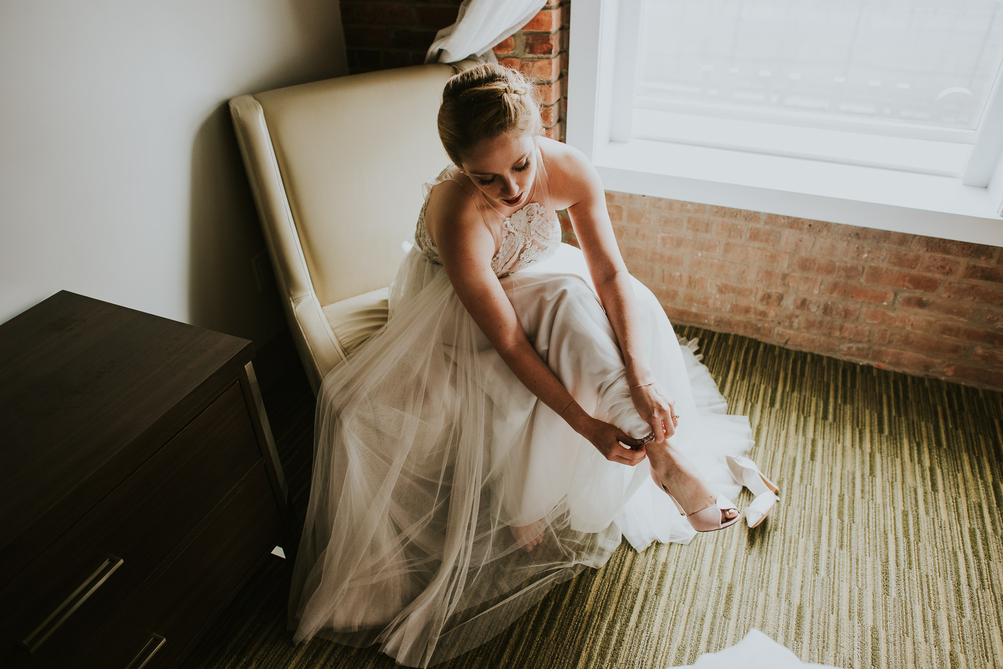 wedding shoes photographed by Traverse The Tides
