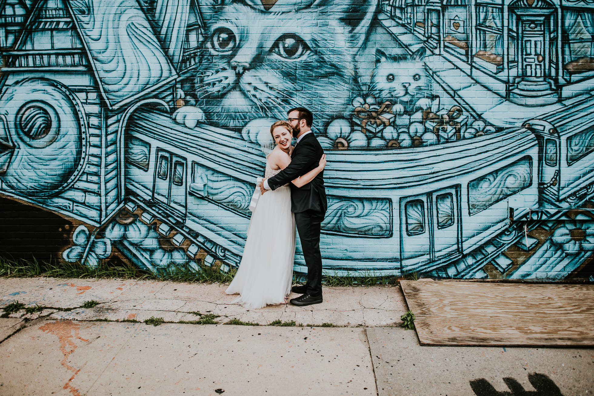 wedding with cats photographed by Traverse The Tides