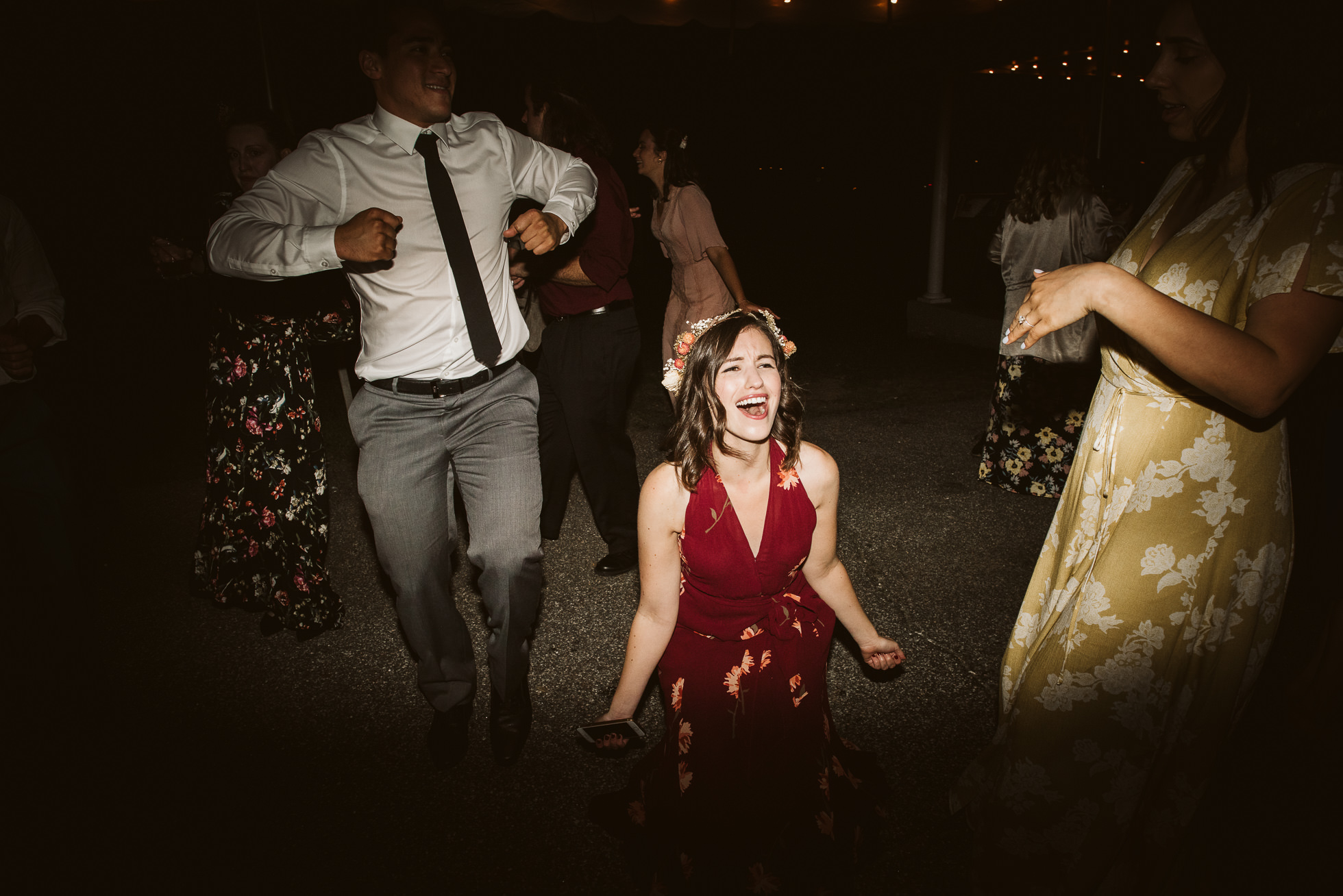 wild wedding dancing